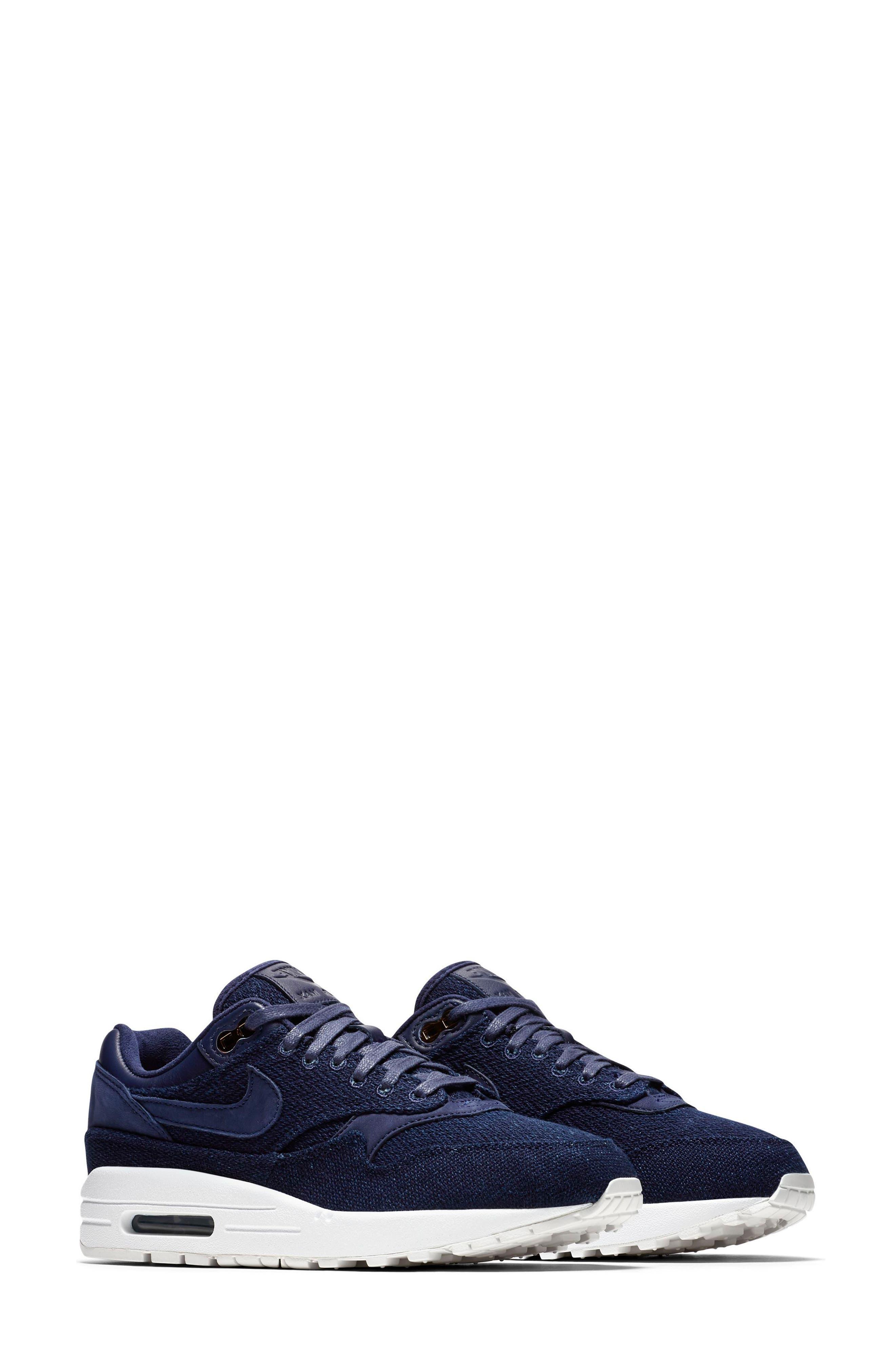 Air Max 1 Lux Sneaker,                             Main thumbnail 1, color,                             Binary Blue/ White/ Stout