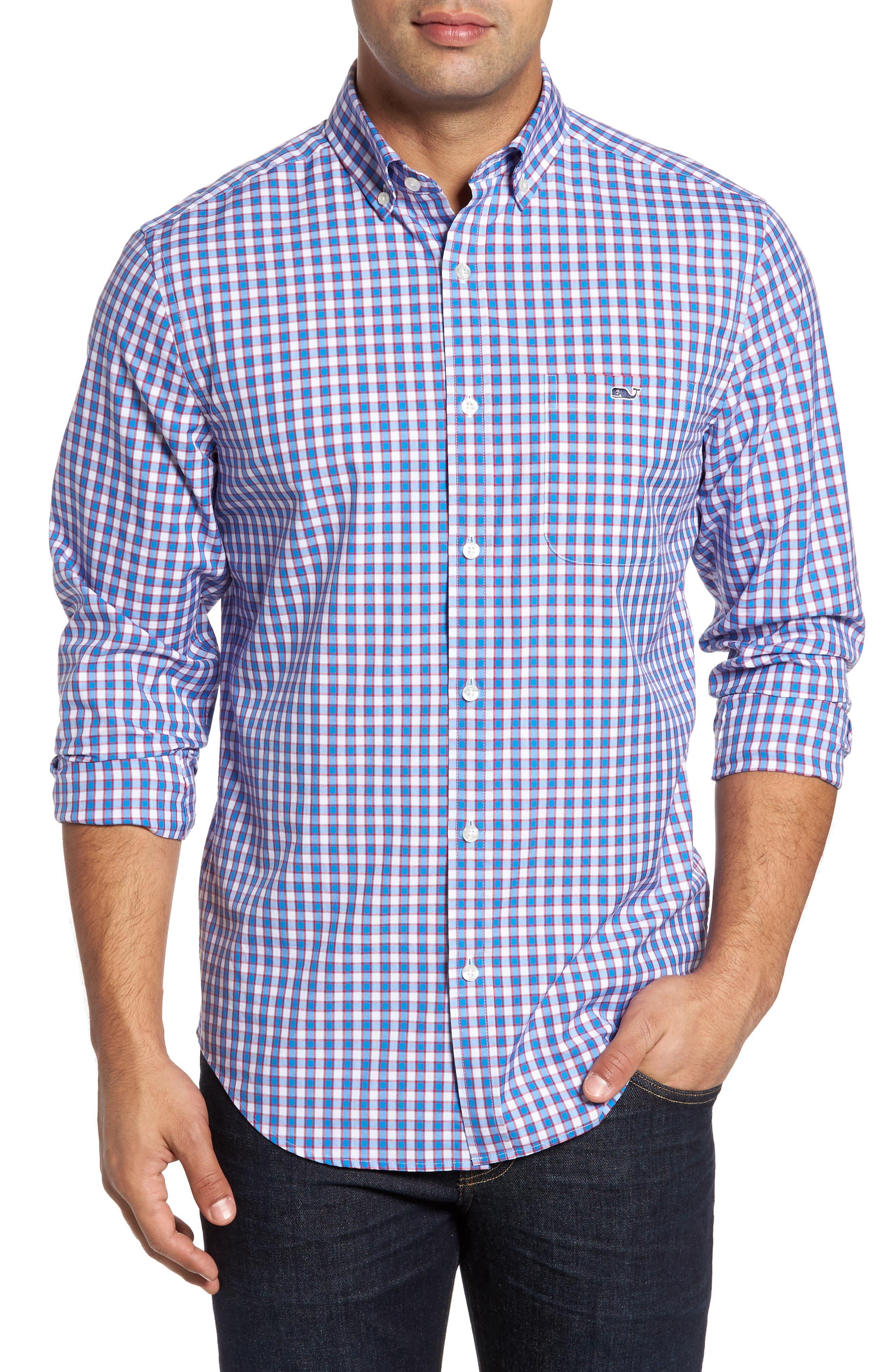 vineyard vines Tucker Classic Fit Check Sport Shirt