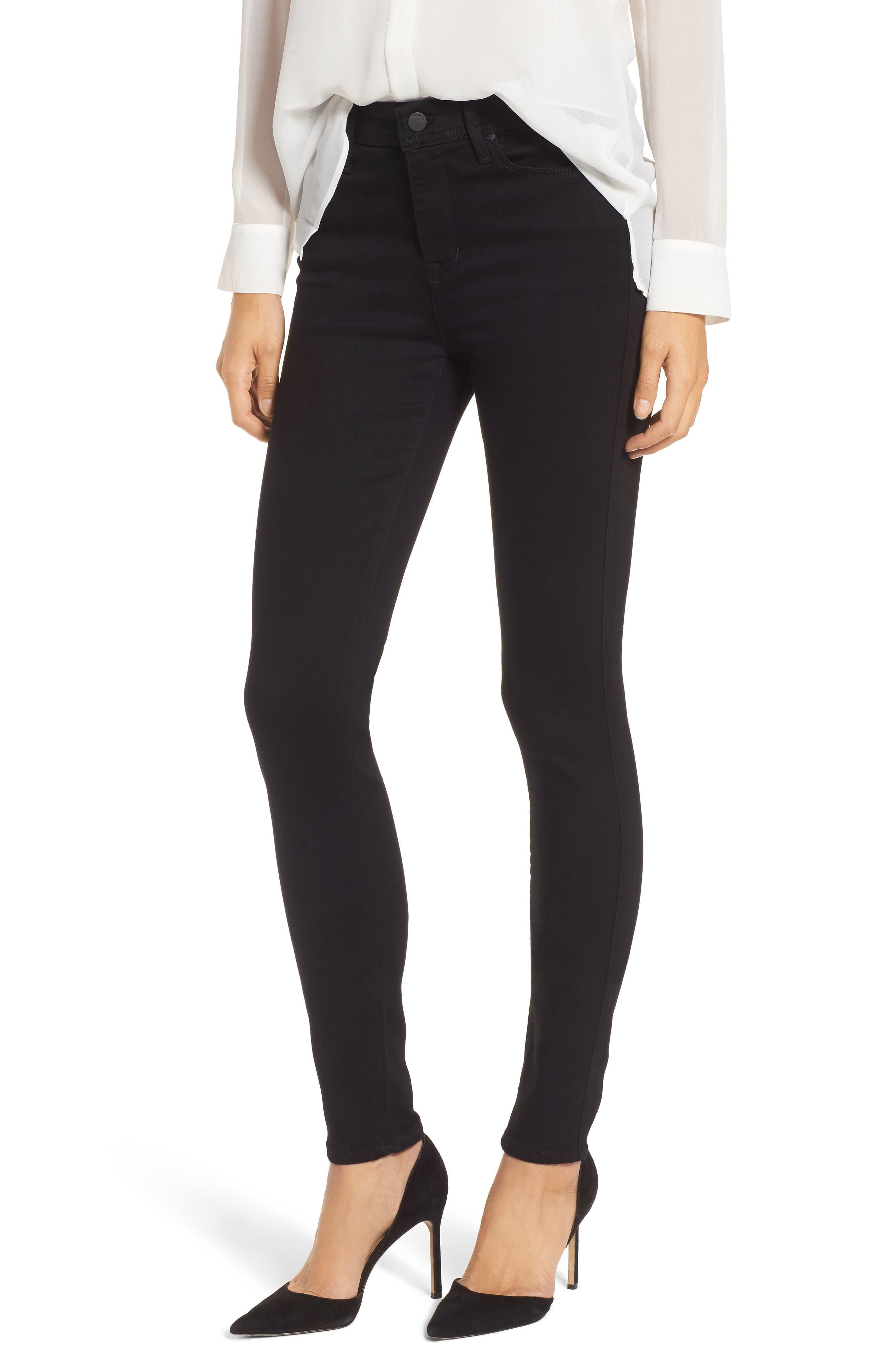 Belvedere Skinny Jeans,                             Main thumbnail 1, color,                             Jett Black