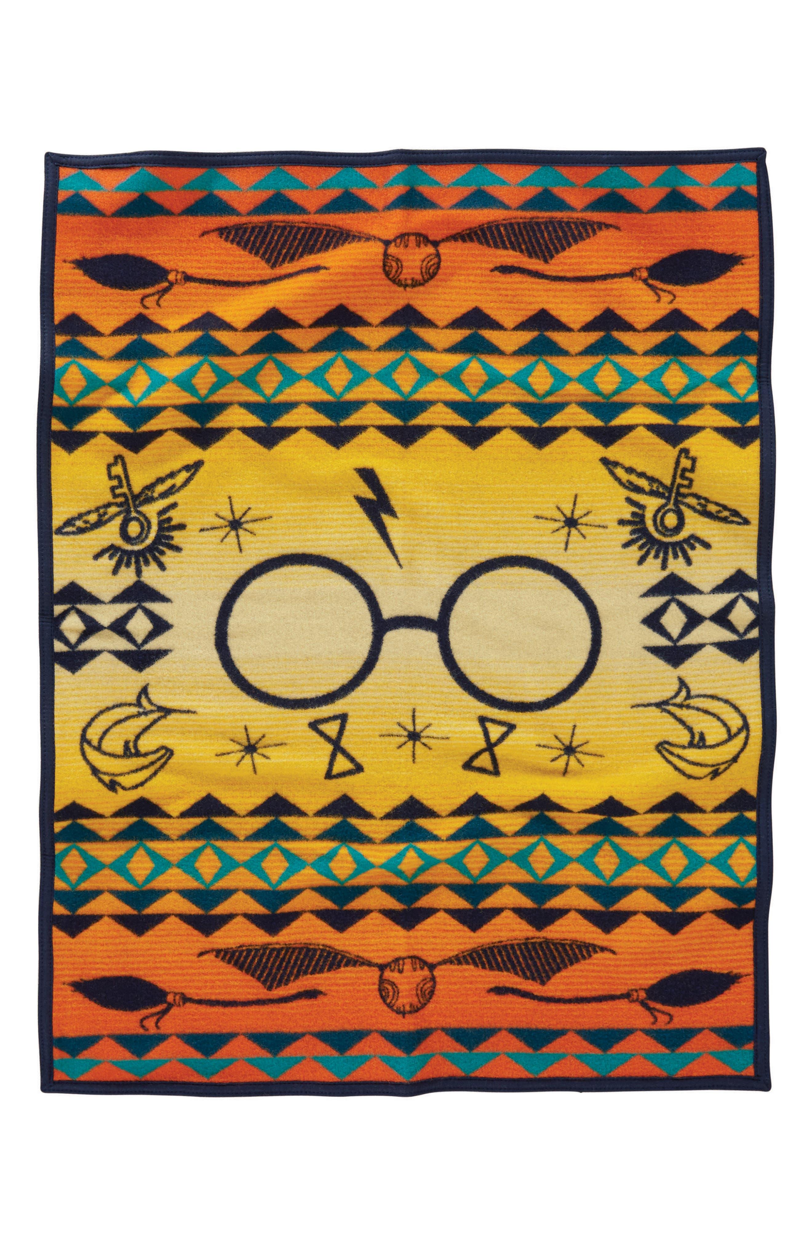 Harry Potter - Harry's Journey Crib Blanket,                             Main thumbnail 1, color,                             Orange