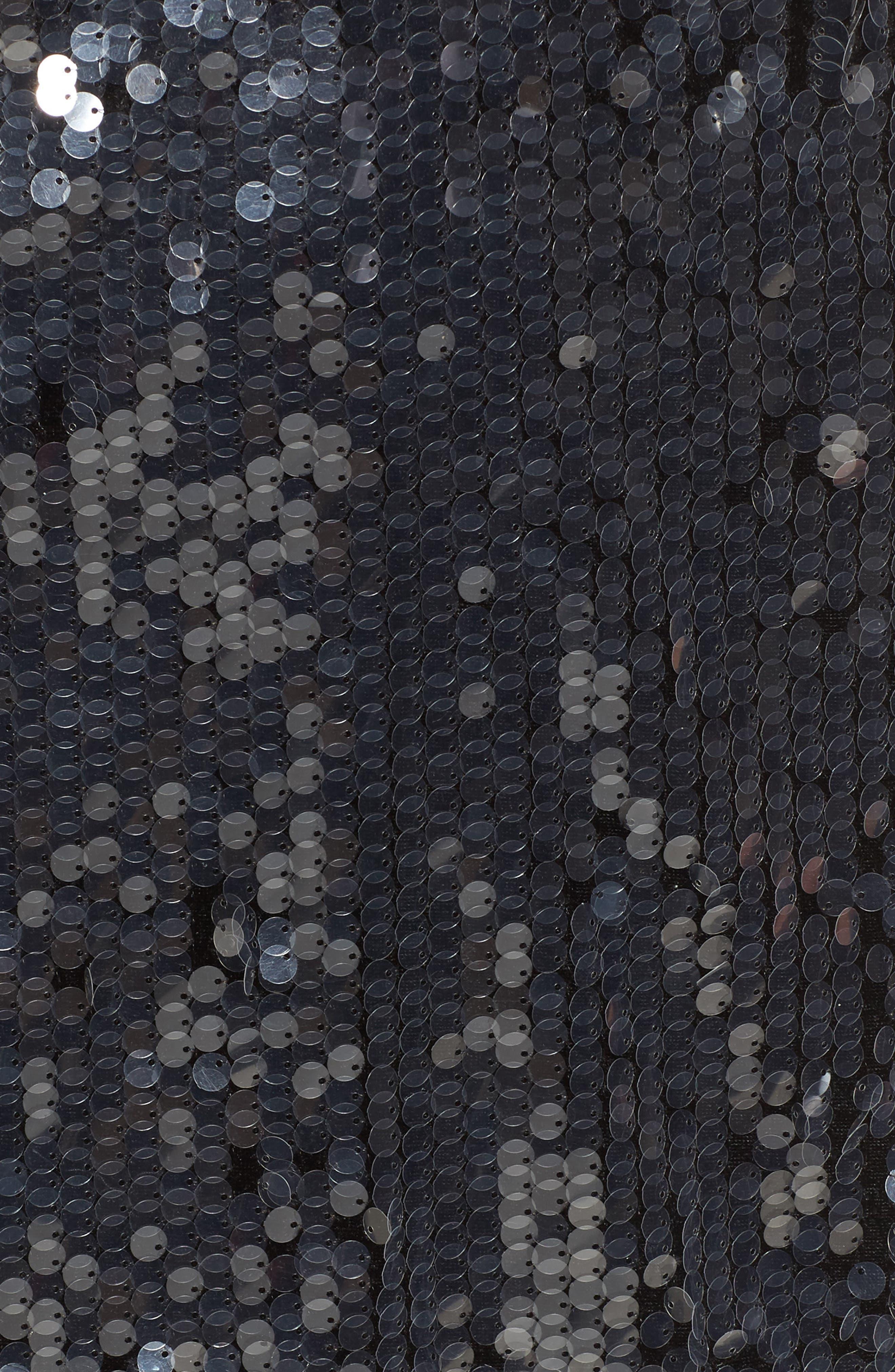 Bexley Shift Dress,                             Alternate thumbnail 5, color,                             Black Sequin