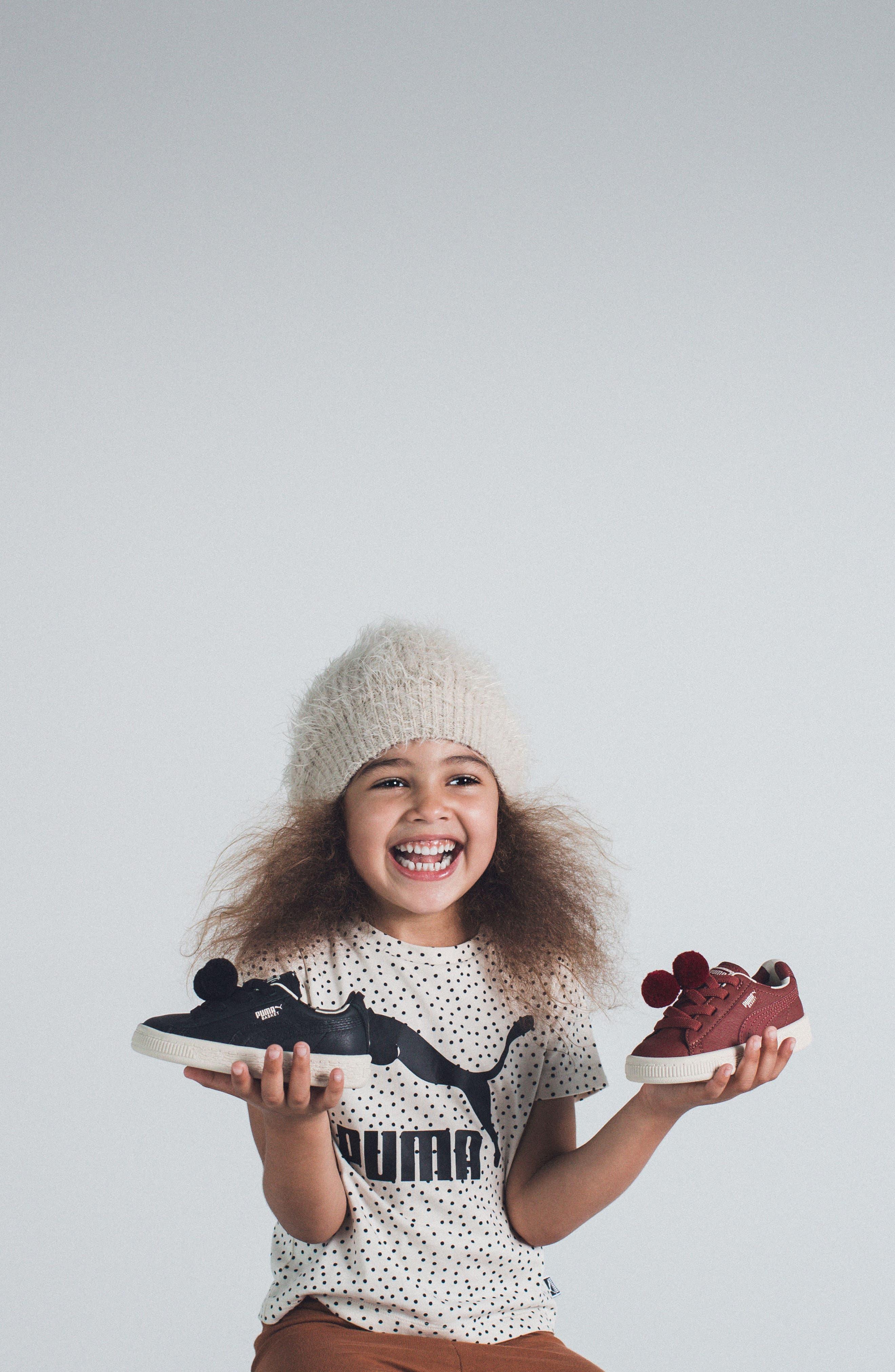 Alternate Image 7  - PUMA x tinycottons Basket Pompom Sneaker (Baby, Walker, Toddler, Little Kid & Big Kid)