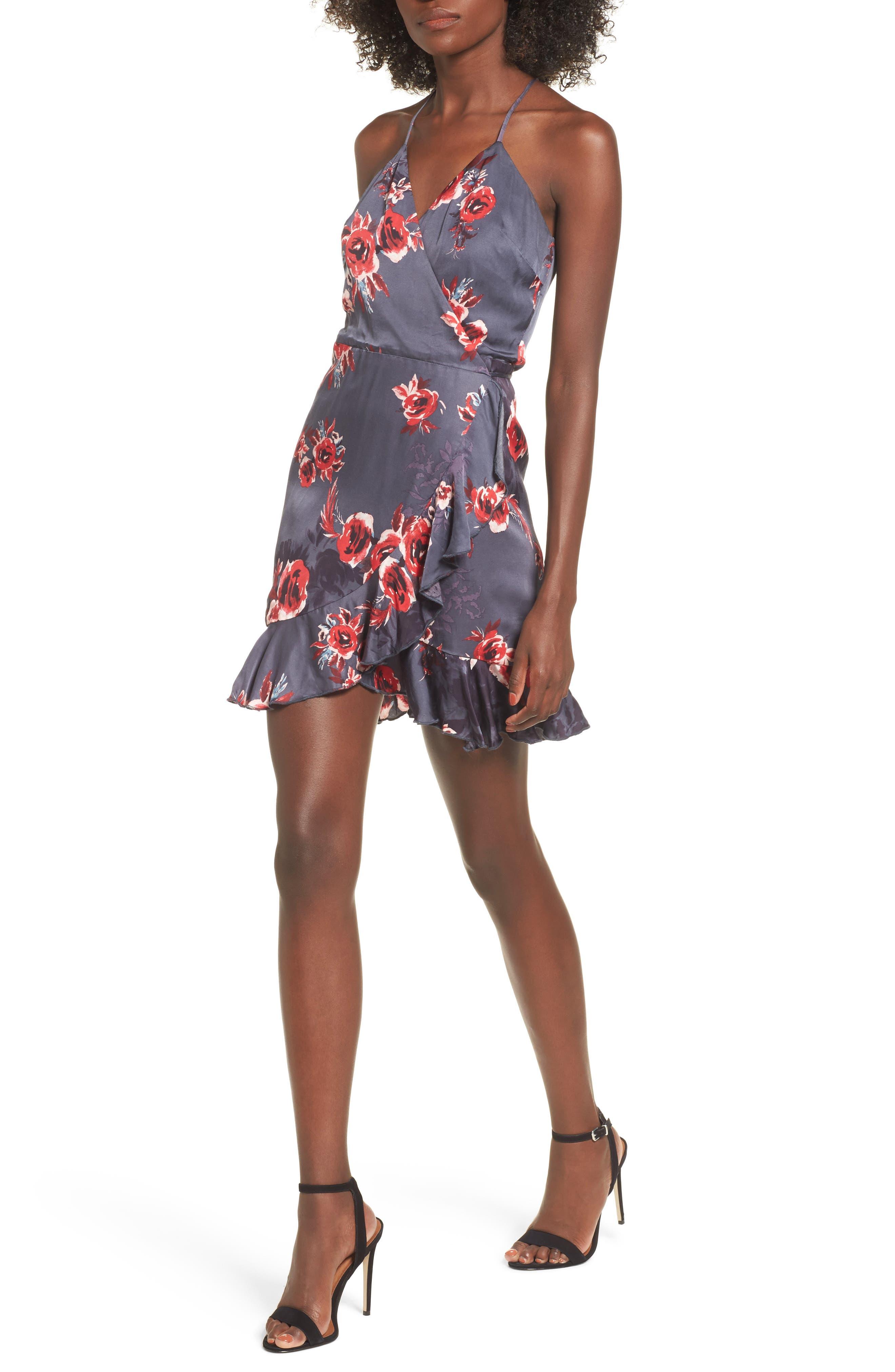 Gigi Wrap Dress,                         Main,                         color, Romantic Floral