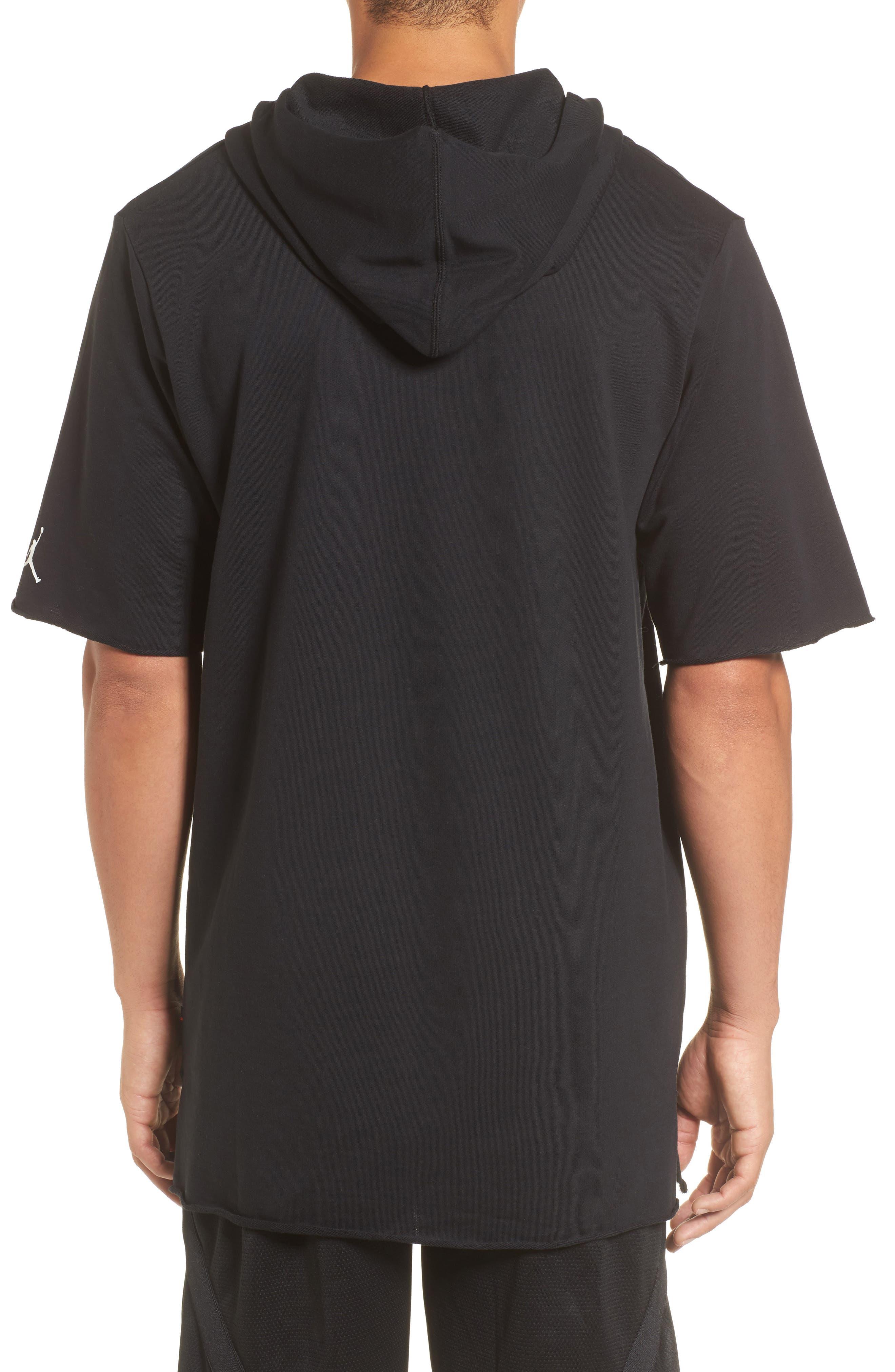 Sportswear City of Flight Hooded T-Shirt,                             Alternate thumbnail 2, color,                             Black/ White