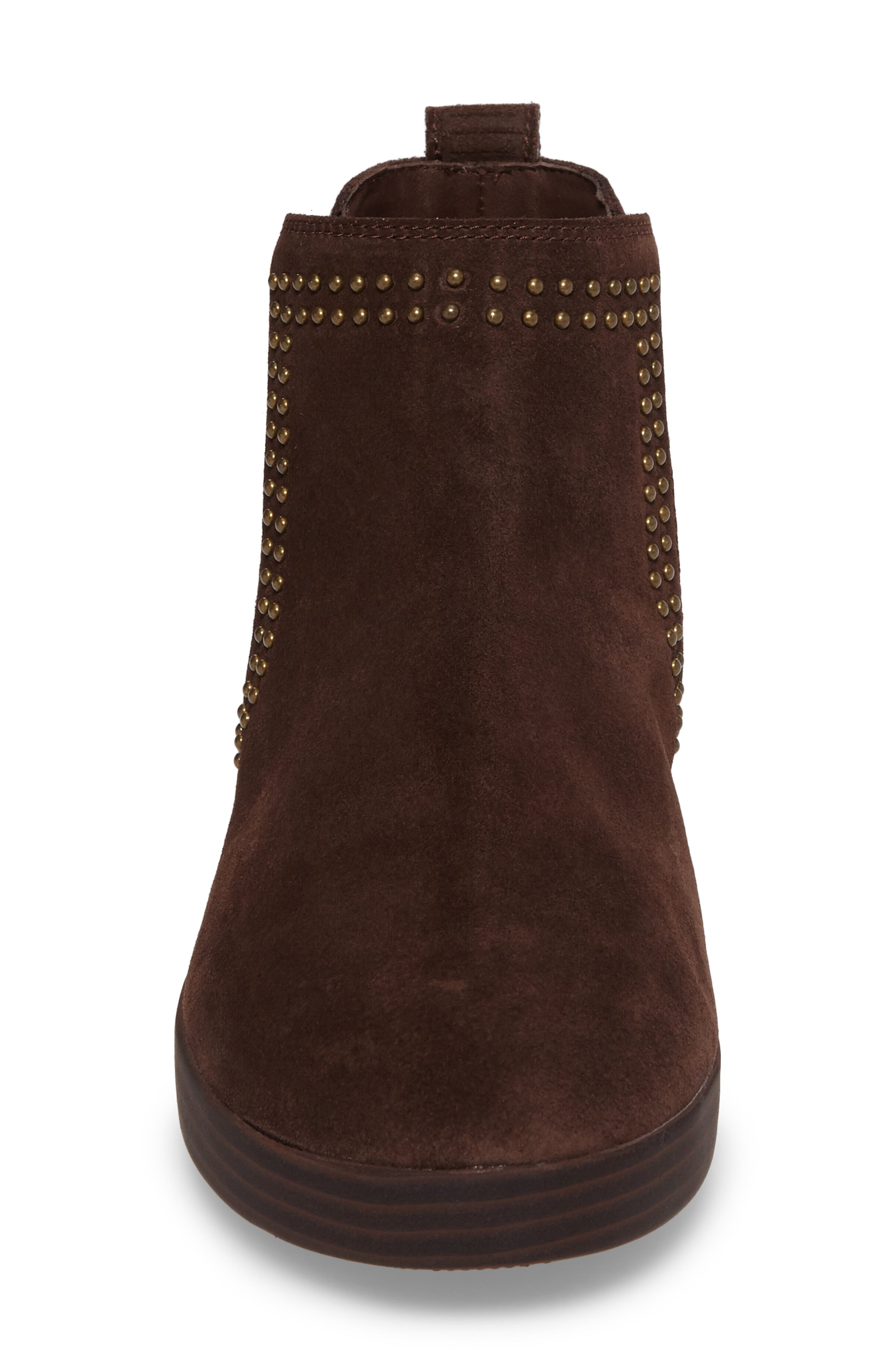 Superchelsea Studded Boot,                             Alternate thumbnail 4, color,                             Chocolate