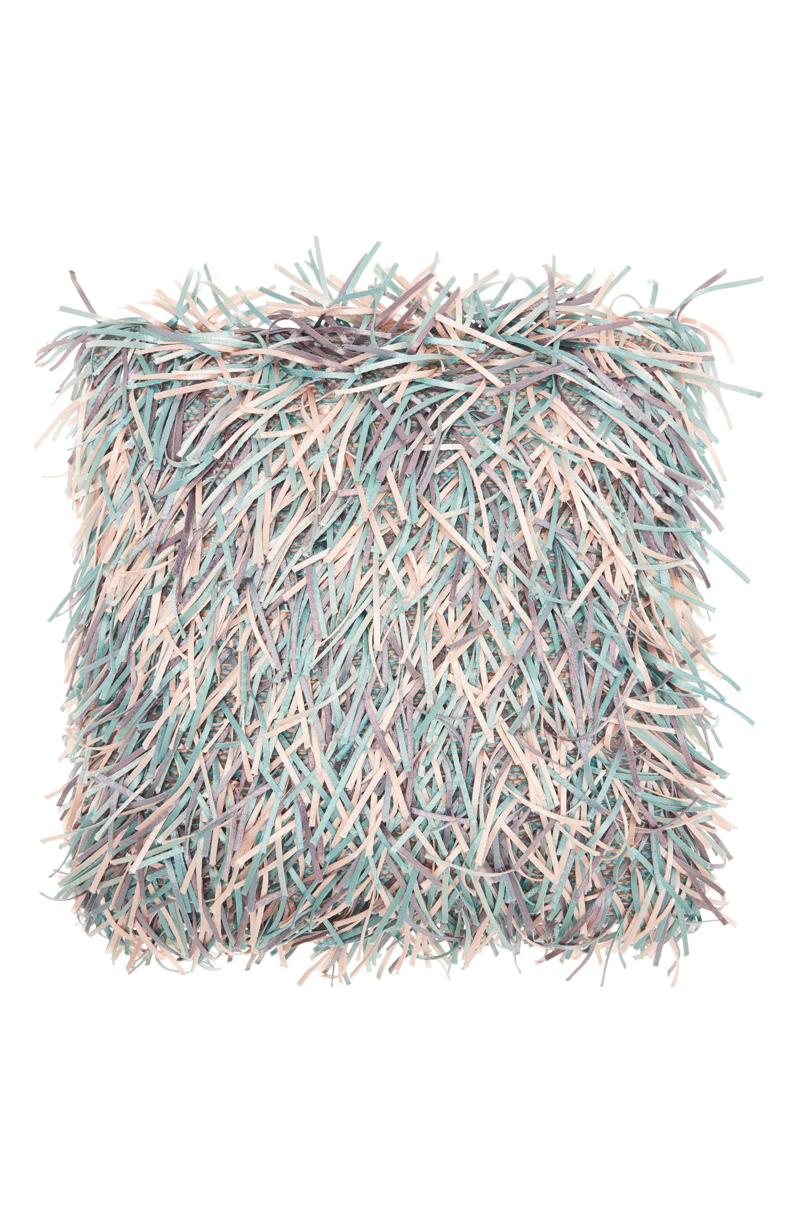 Alternate Image 1 Selected - Mina Victory Metallic Ribbon Shag Pillow
