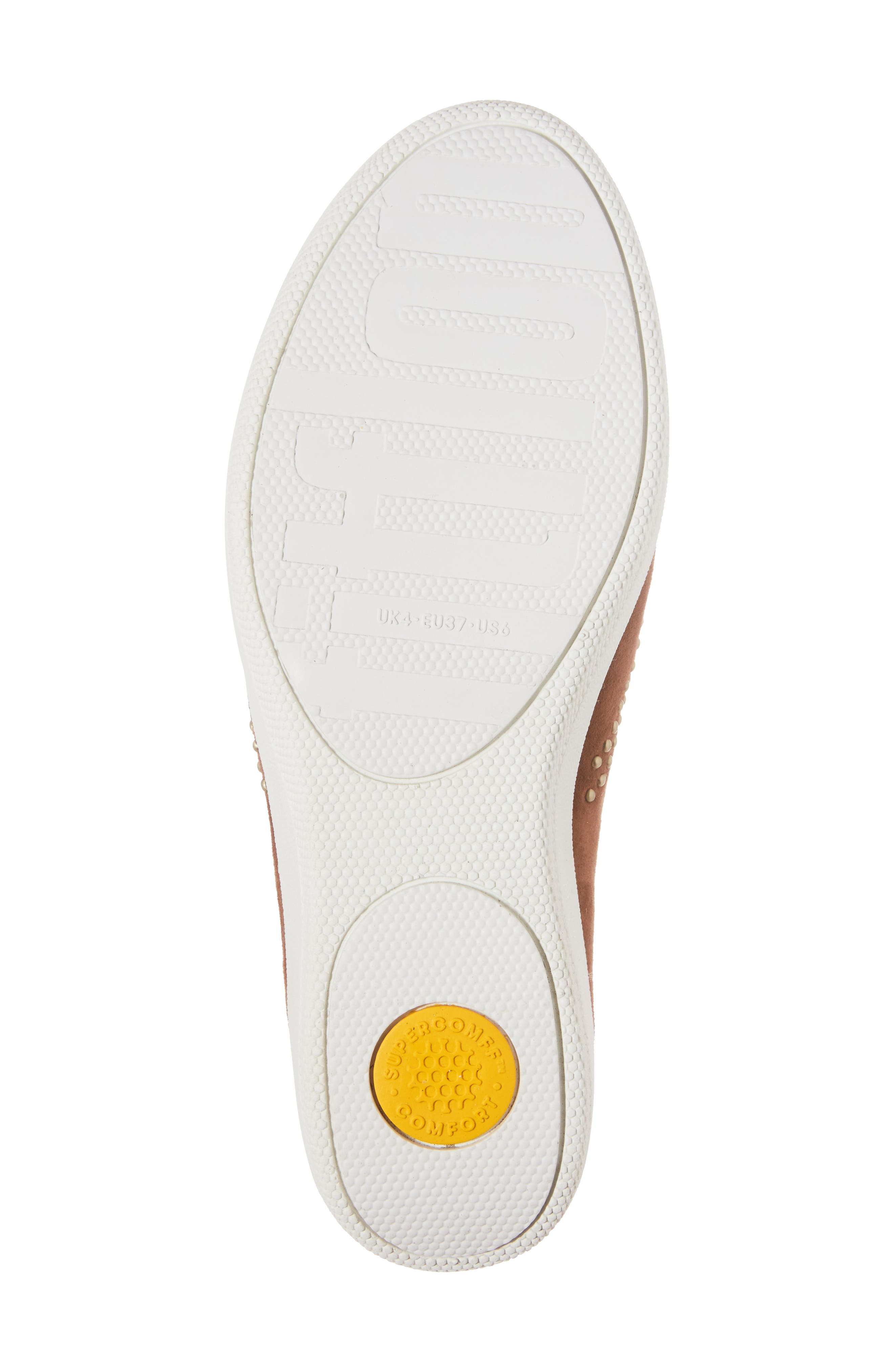 Superskate Studded Wedge Loafer,                             Alternate thumbnail 6, color,                             Tan Faux Suede