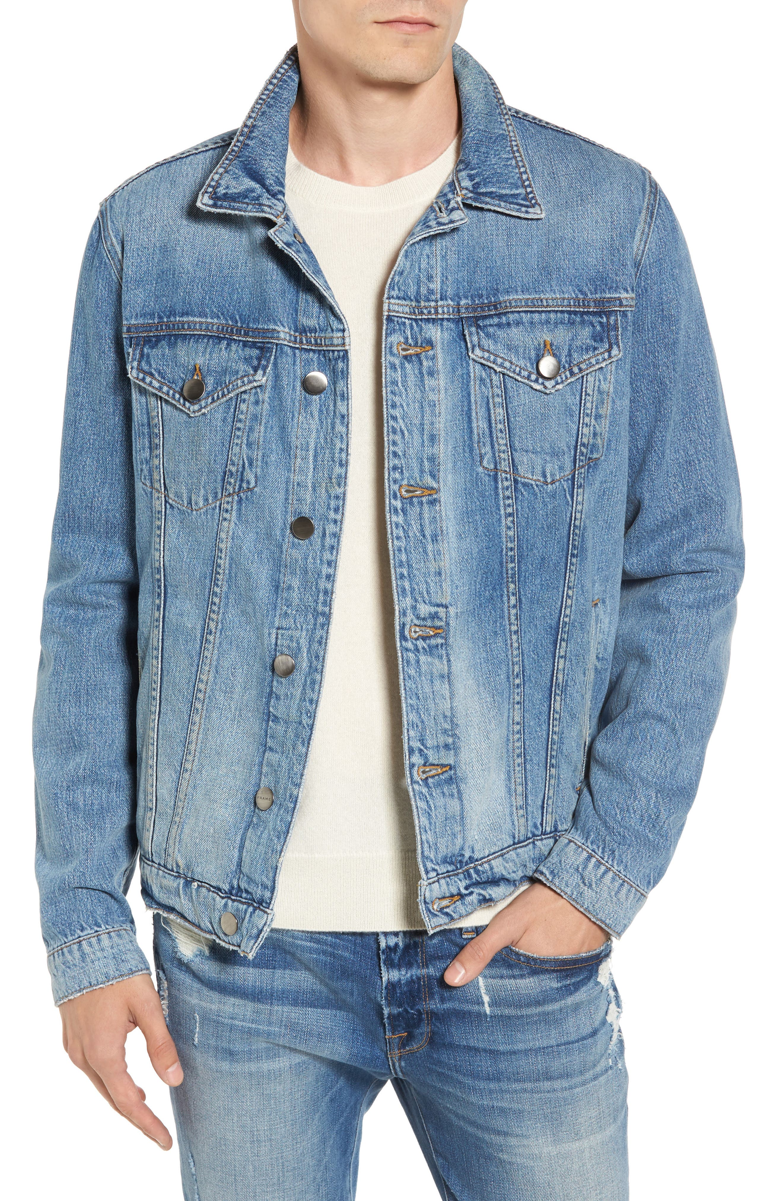 L'Homme Denim Jacket,                         Main,                         color, Canyon Cove