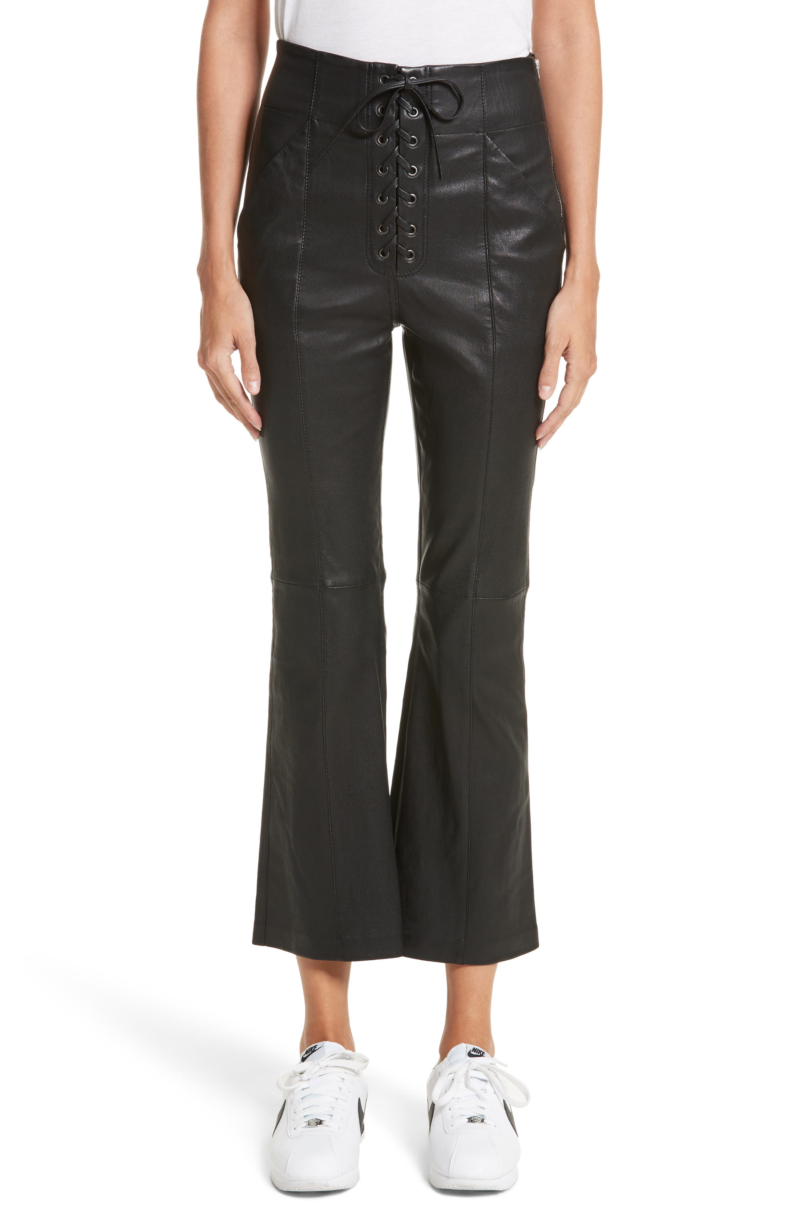 Alternate Image 1 Selected - A.L.C. Delia Lace Up Leather Pants