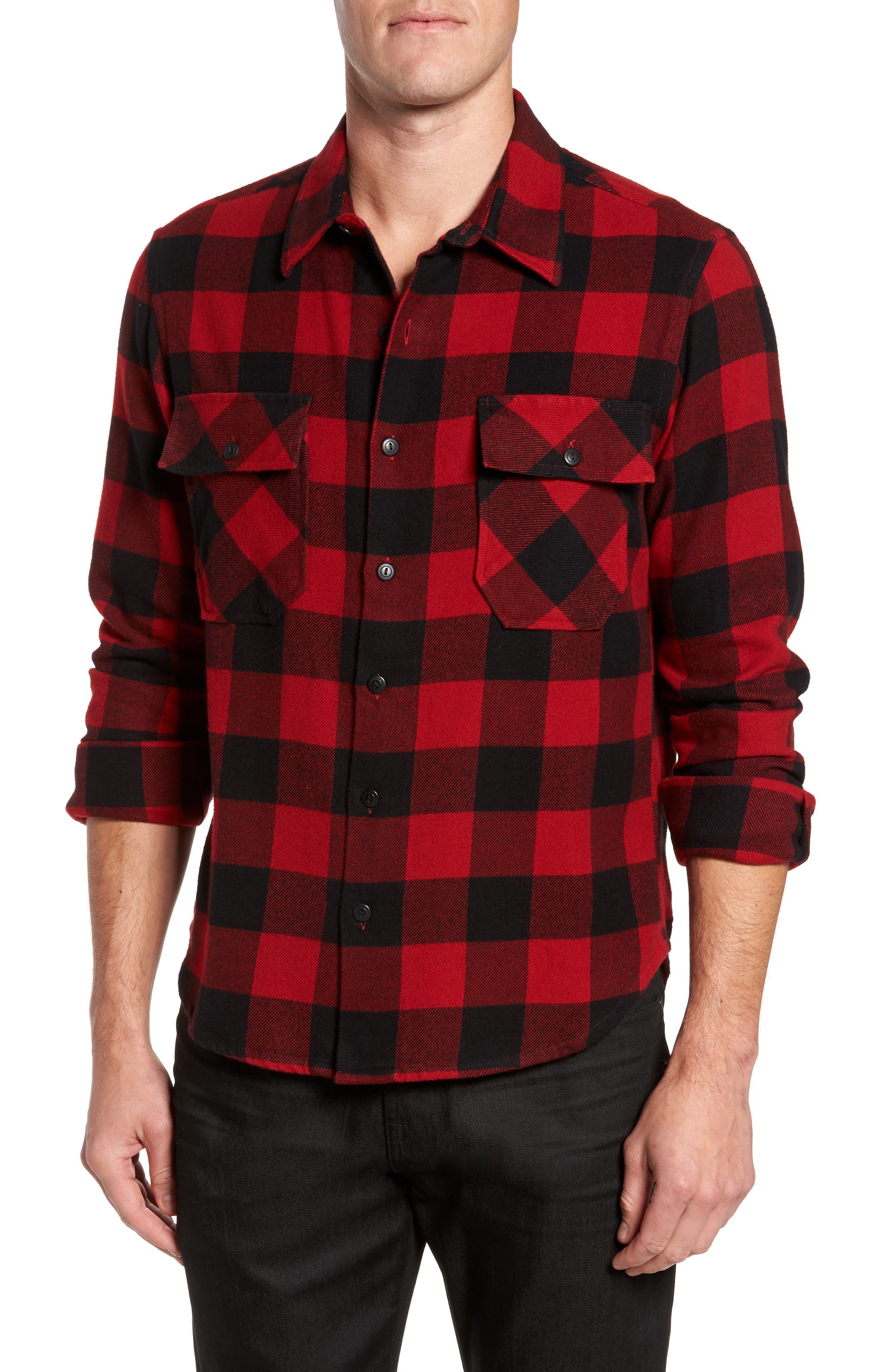 Buffalo Check Shirt Jacket,                             Main thumbnail 1, color,                             Buffalo Plaid