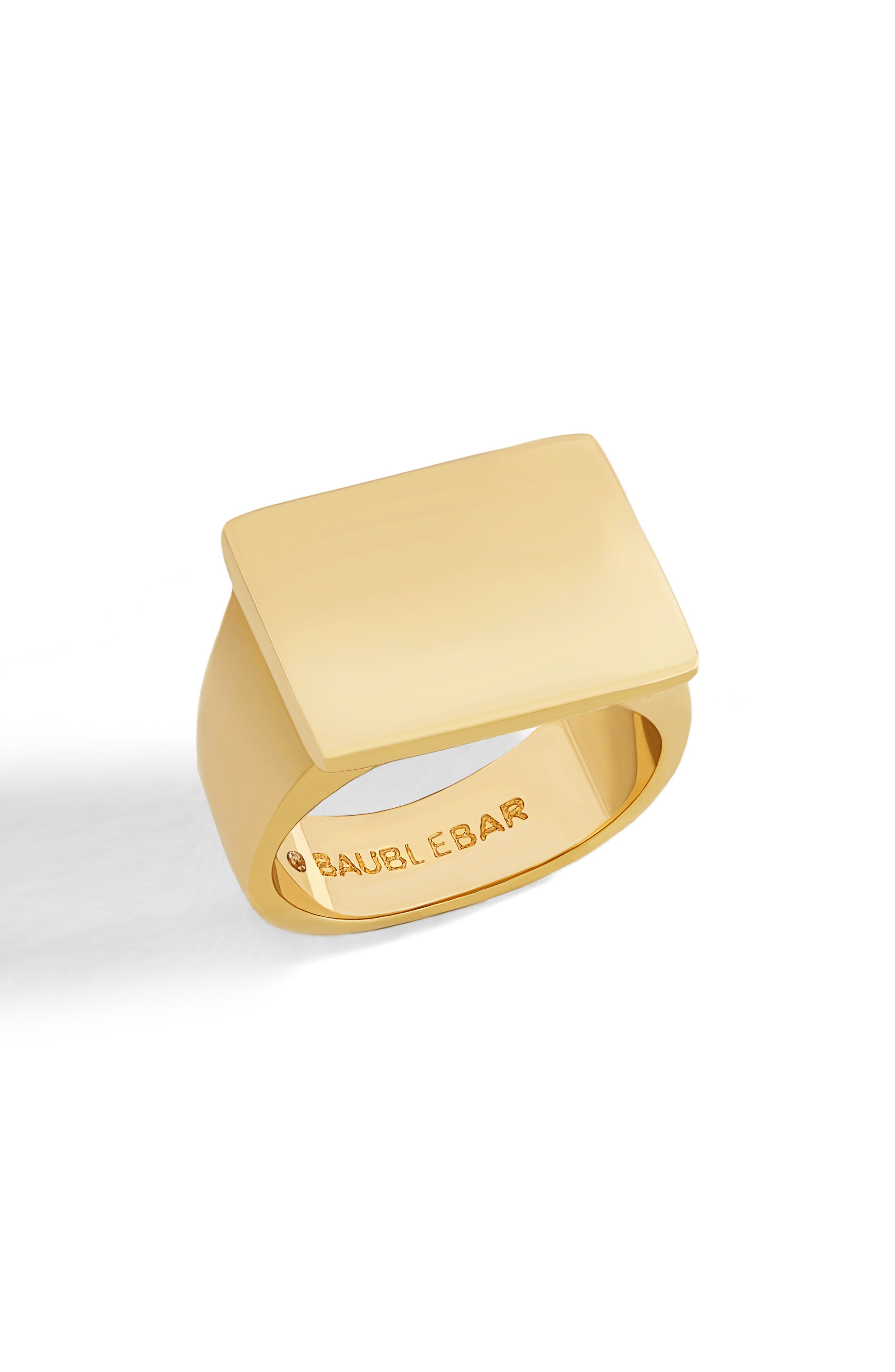 Square Statement Ring,                         Main,                         color, Gold