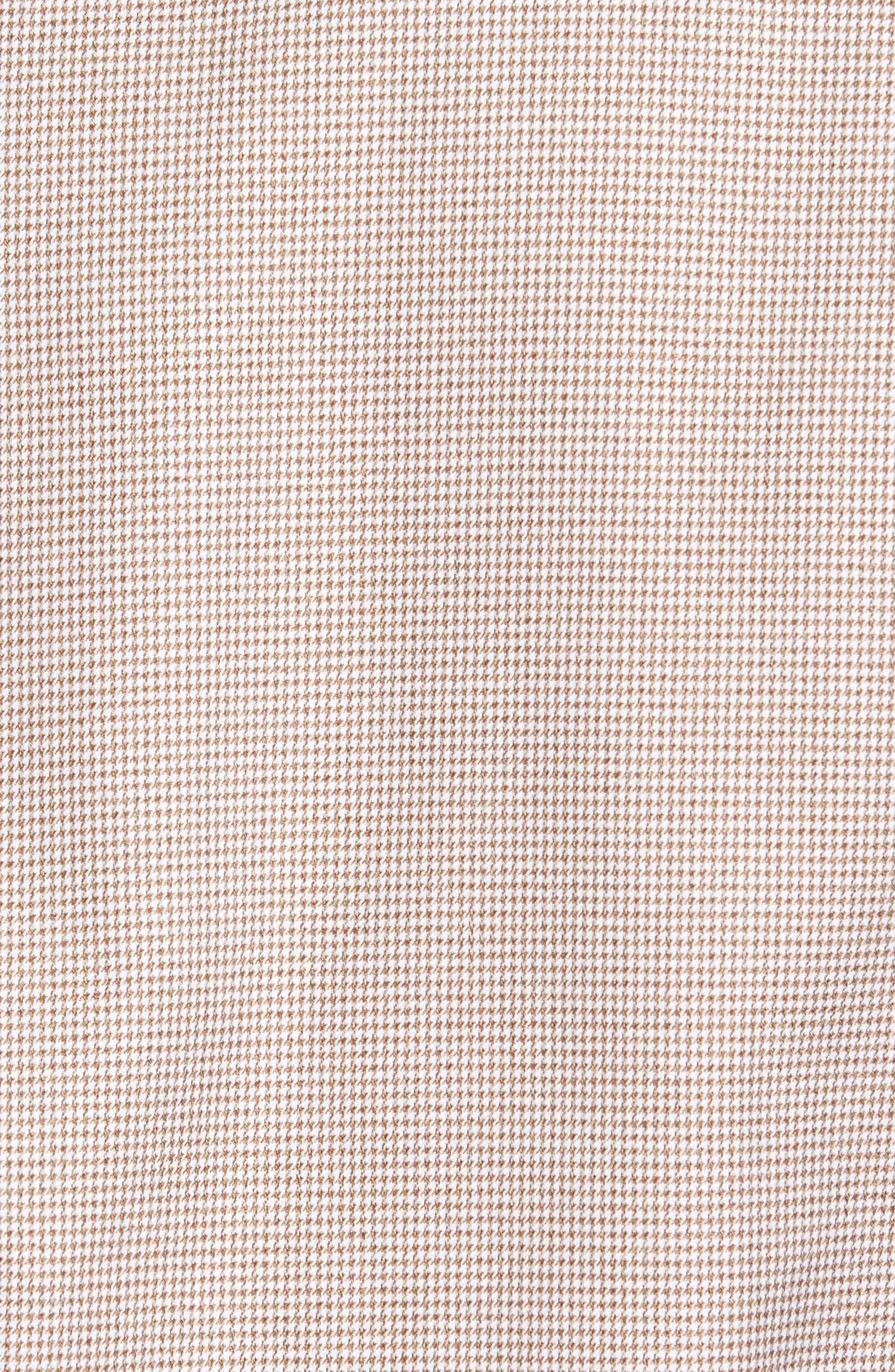 Micro Houndstooth Sport Shirt,                             Alternate thumbnail 5, color,                             Dune