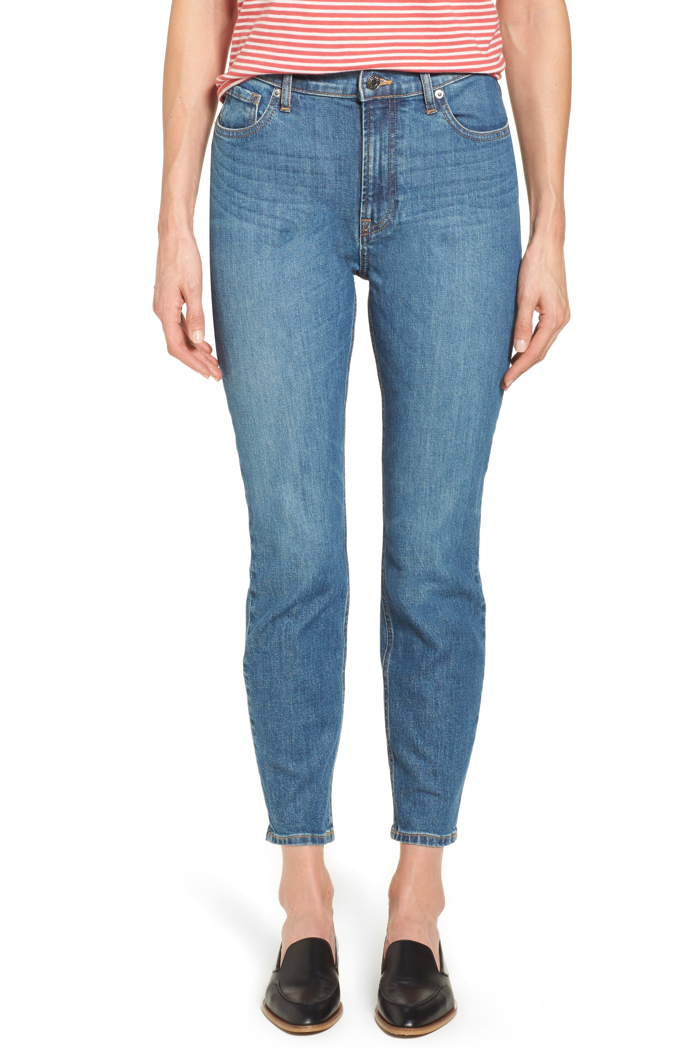 Alternate Image 1 Selected - Everlane The High Rise Skinny Ankle Jeans
