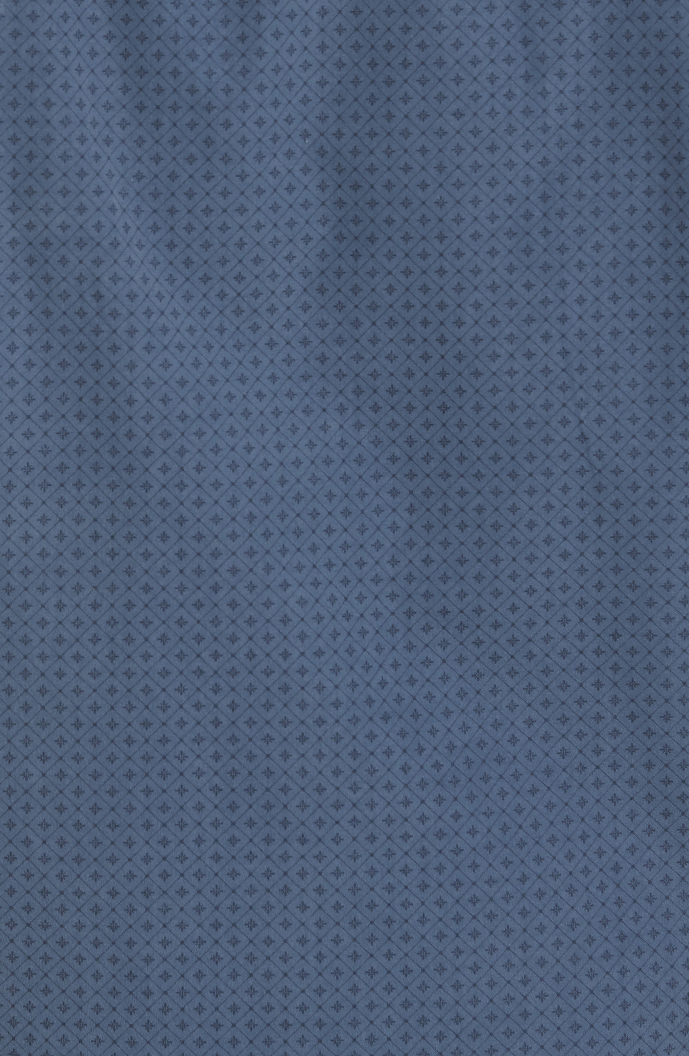 Classic Fit Diamond Print Sport Shirt,                             Alternate thumbnail 5, color,                             Blue