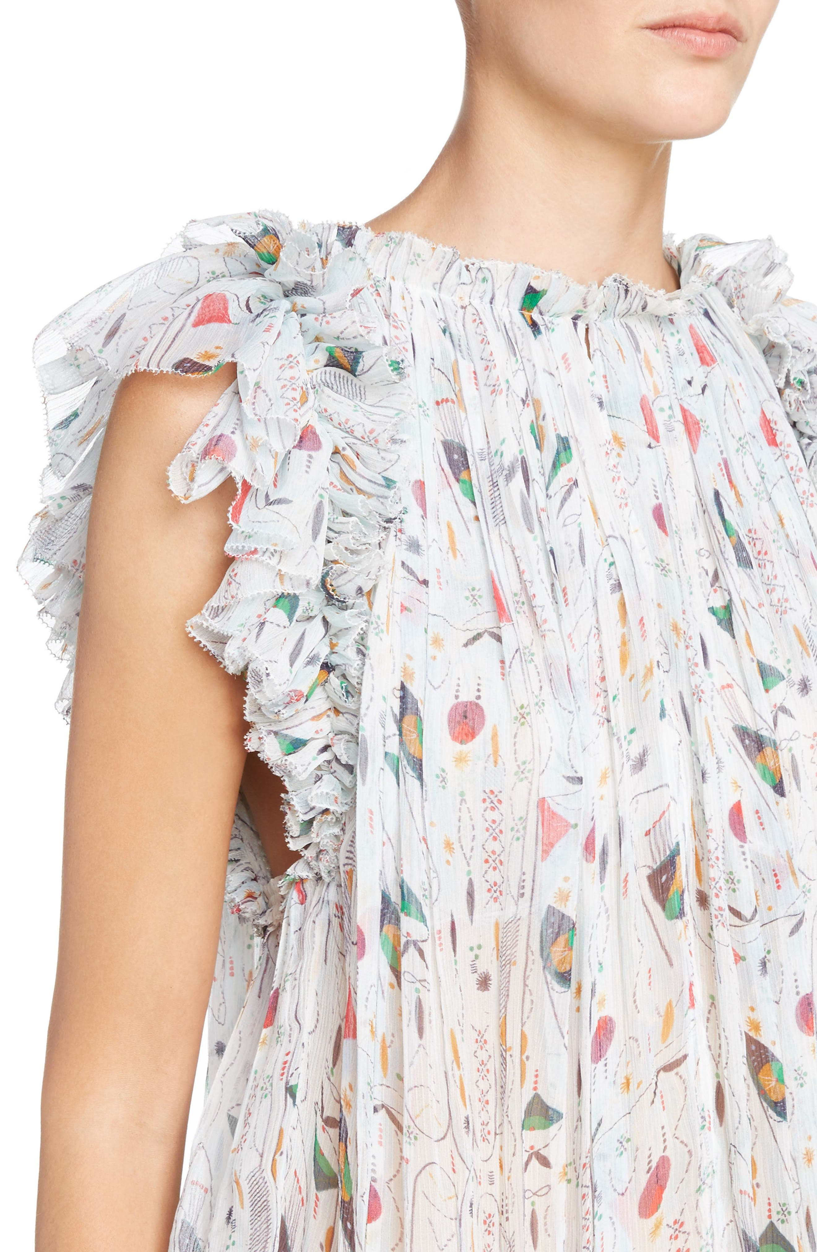 Alternate Image 4  - Isabel Marant Étoile Erell Print Silk Top