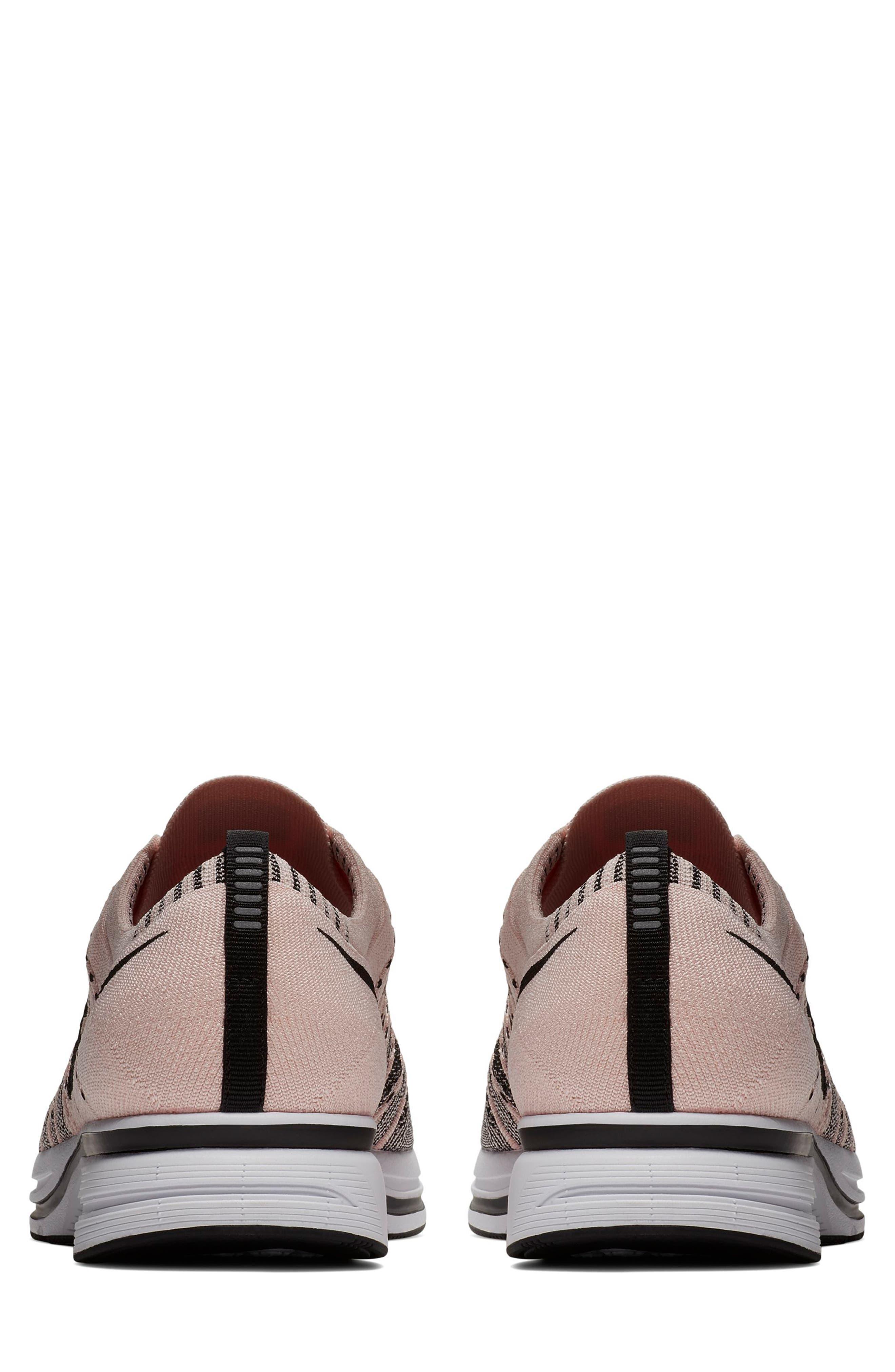 NikeLab Flyknit Trainer Sneaker,                             Alternate thumbnail 6, color,                             Sunset Tint/Black-White