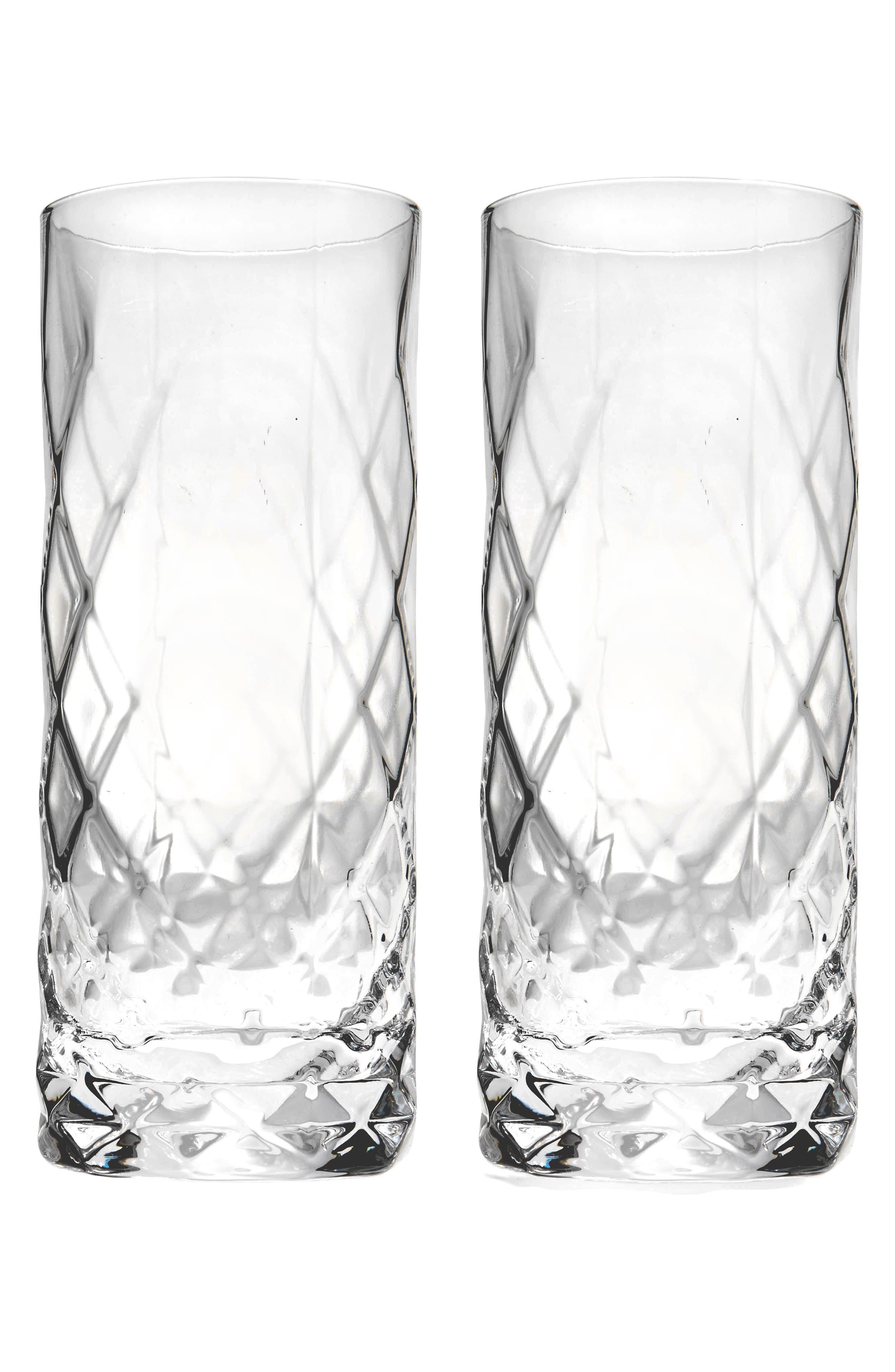 Viski Set of 2 Highball Glasses,                         Main,                         color, Clear