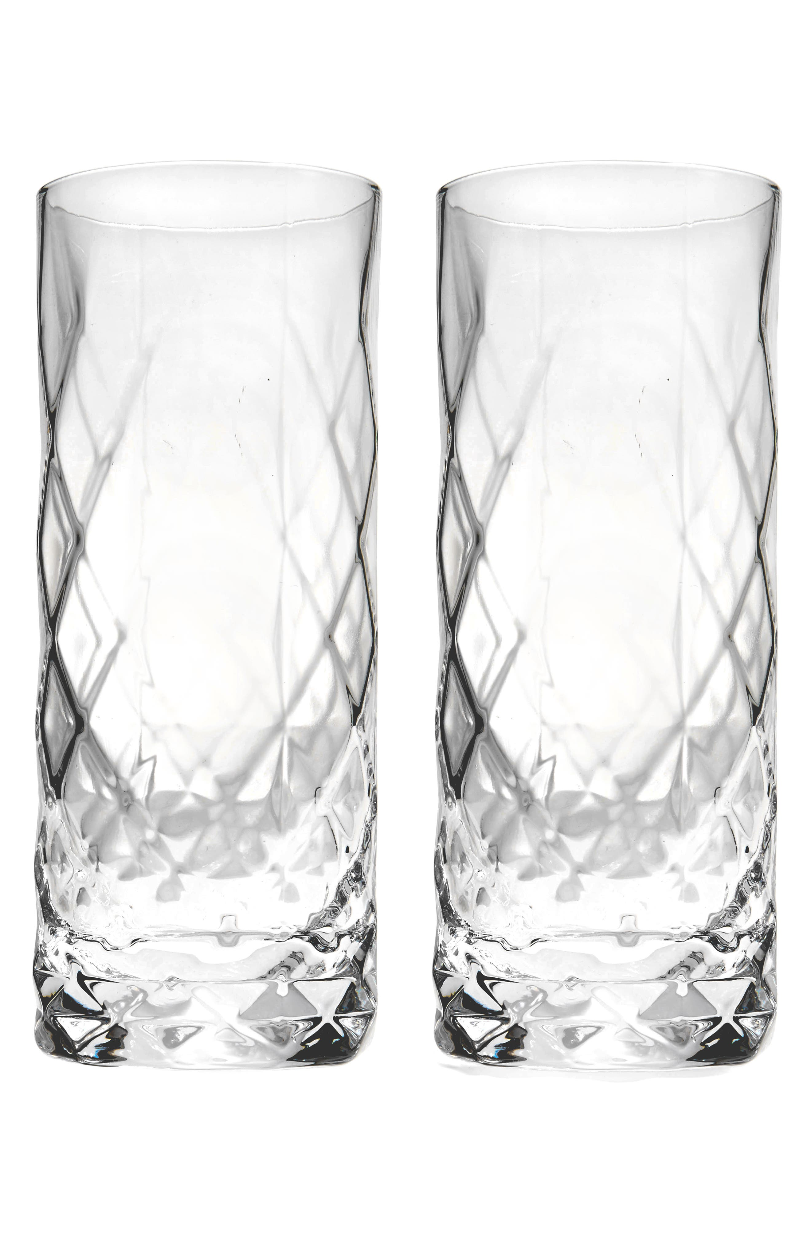 Viski Set of 2 Highball Glasses