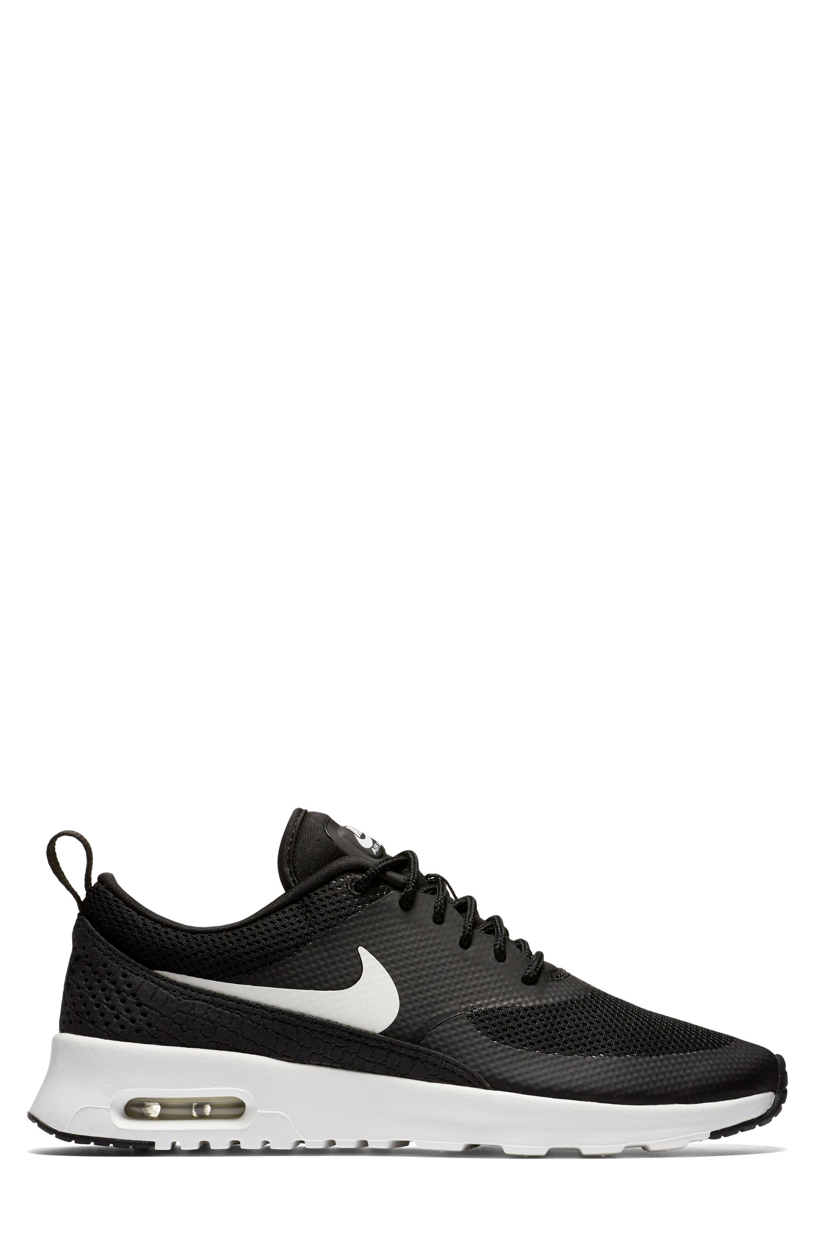 Air Max Thea Sneaker,                             Alternate thumbnail 5, color,                             Black/ Summit White