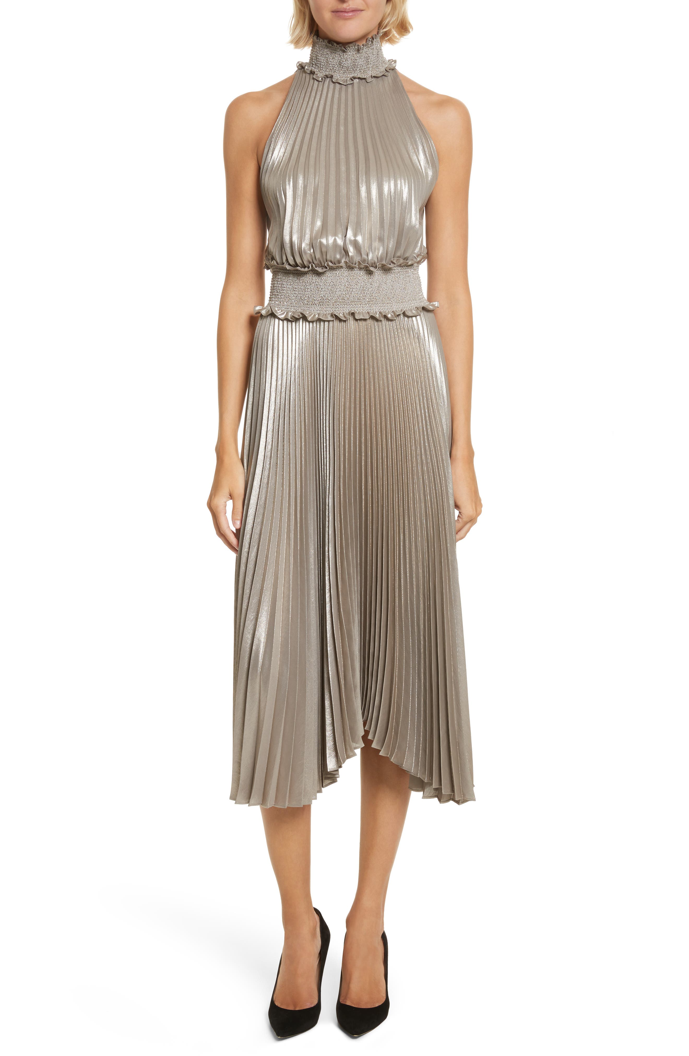 Alternate Image 1 Selected - A.L.C. Kravitz Pleated Midi Dress
