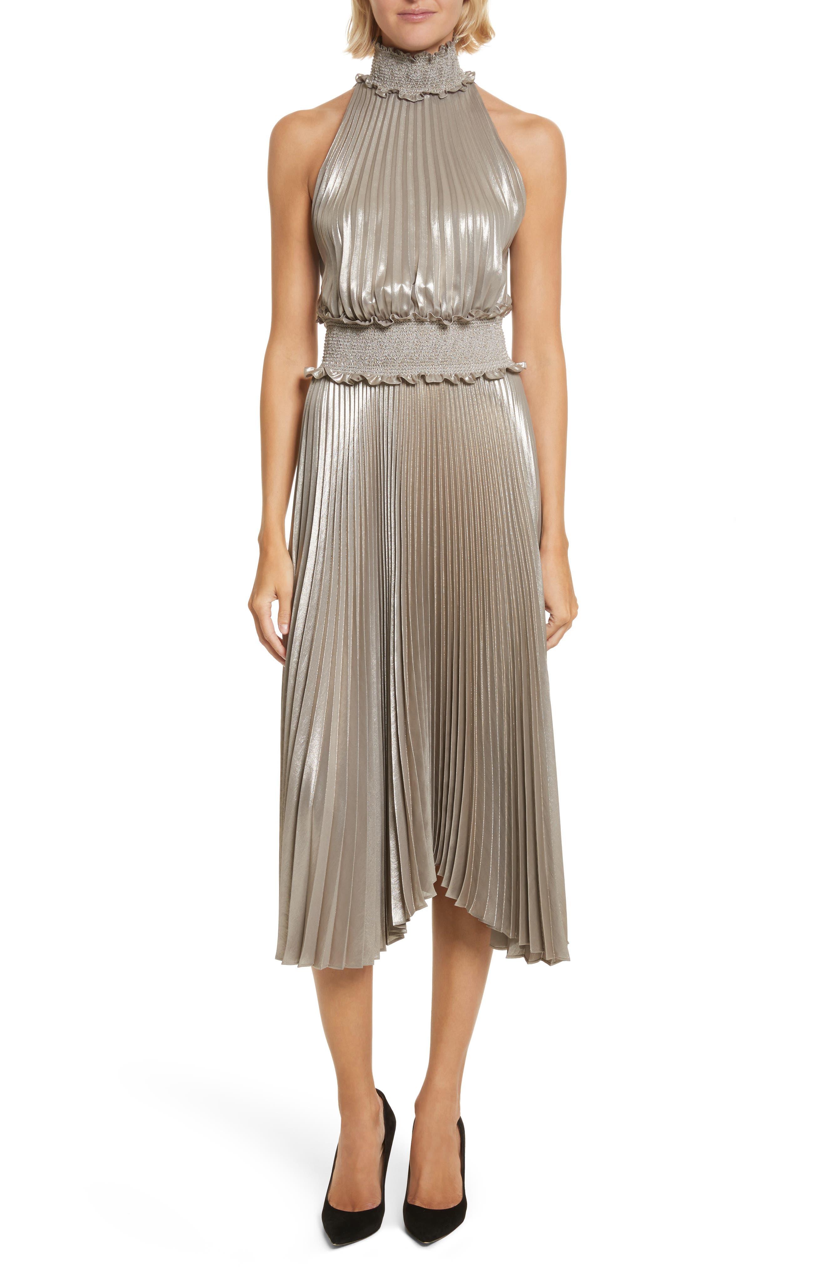 Main Image - A.L.C. Kravitz Pleated Midi Dress