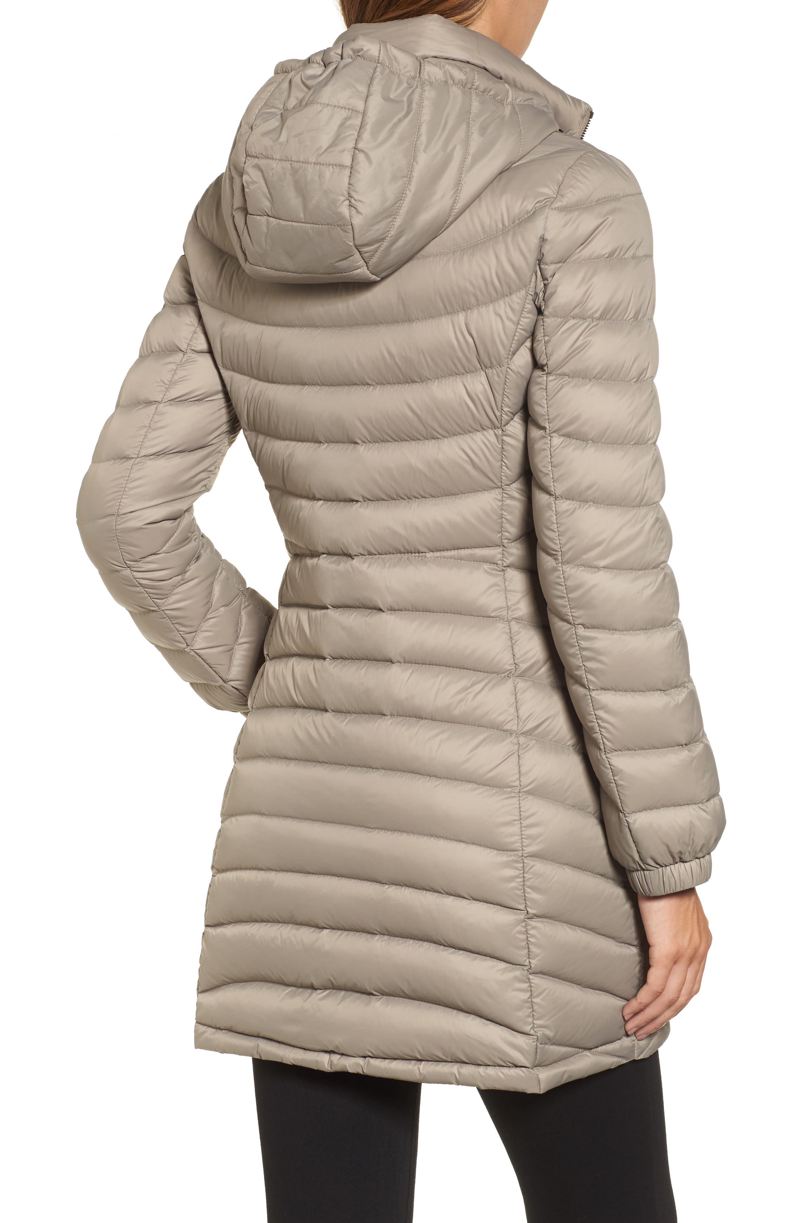 Alternate Image 2  - MICHAEL Michael Kors Hooded Down Coat (Regular & Petite)