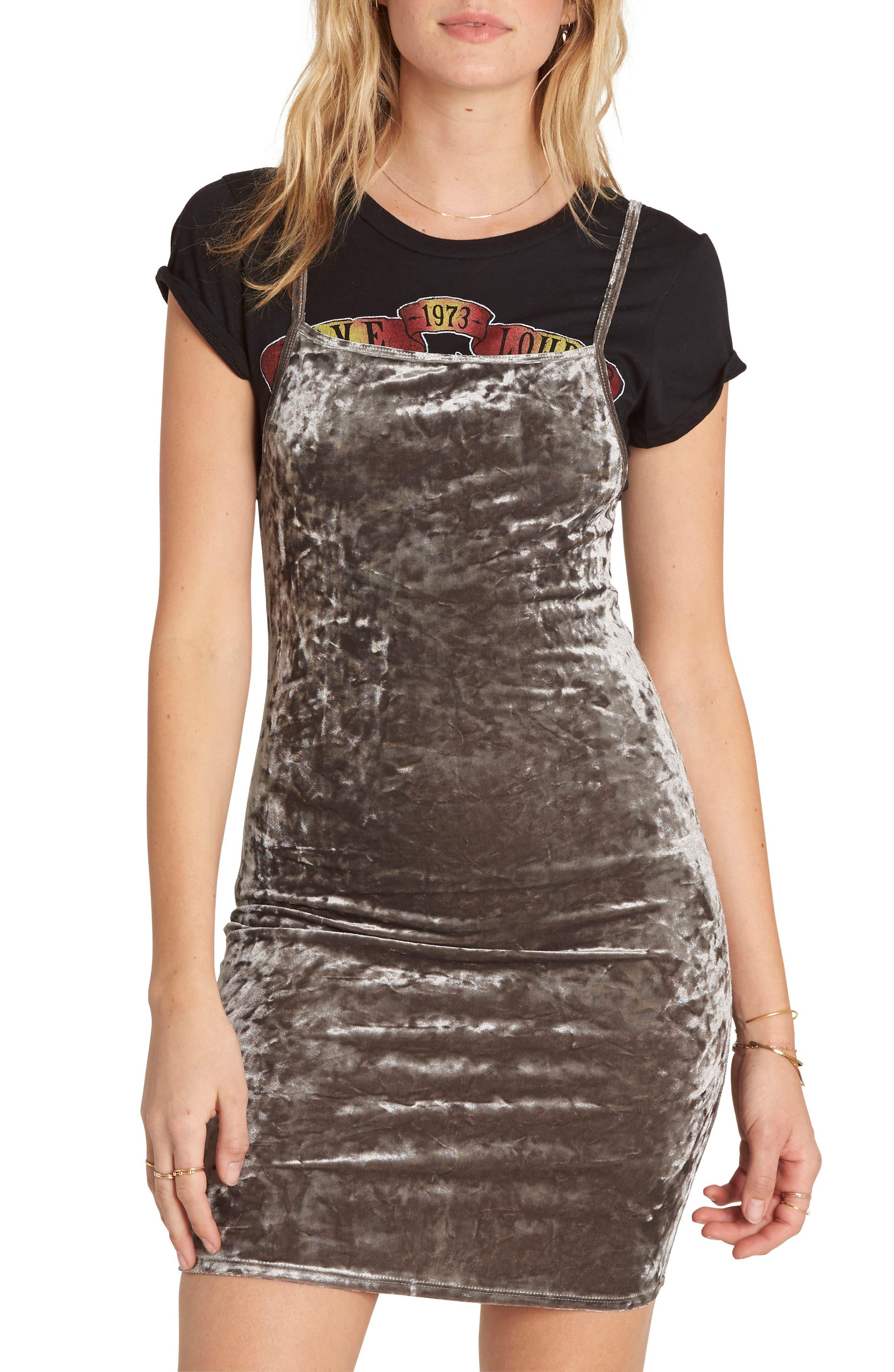 Mystic Dream Velvet Body-Con Dress,                             Main thumbnail 1, color,                             Silver