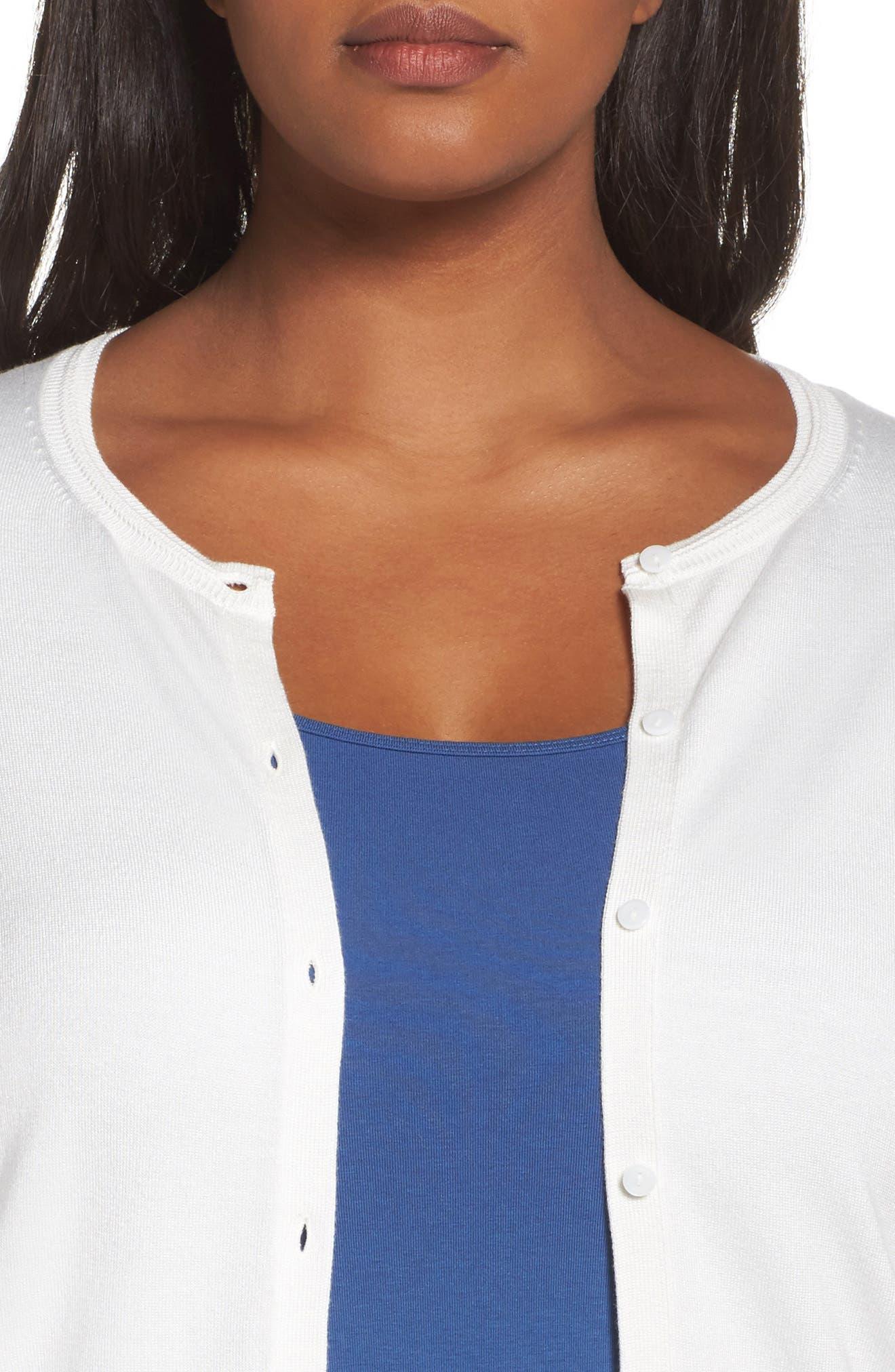 Alternate Image 4  - Sejour Button Front Cardigan (Plus Size)