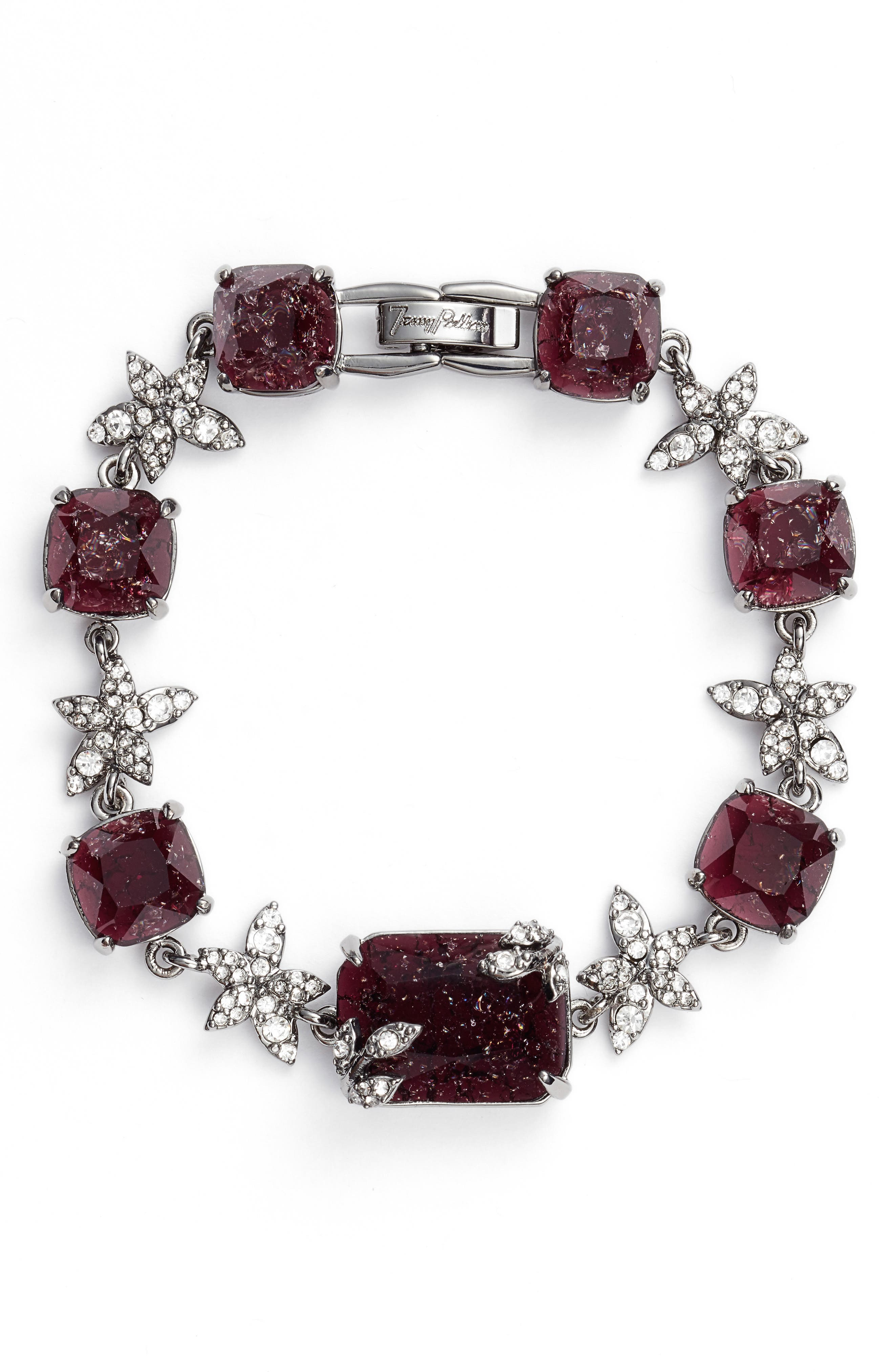 Line Bracelet,                         Main,                         color, Burgundy