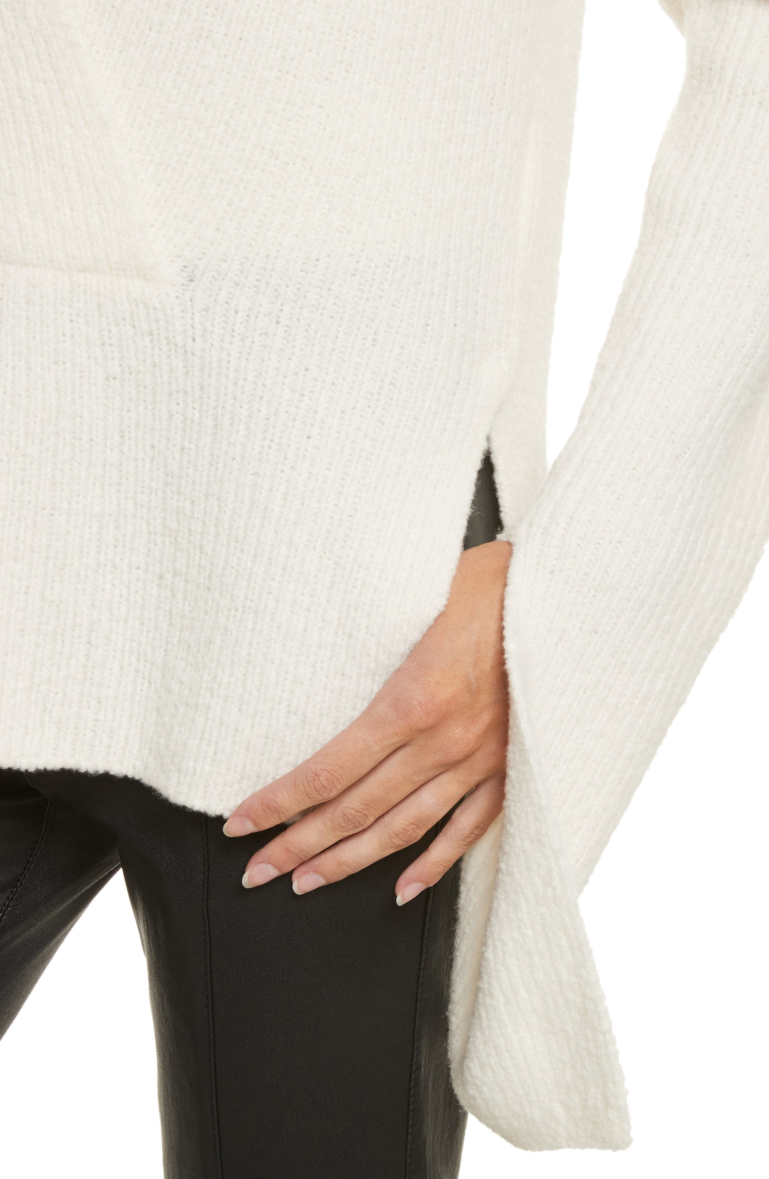 Arlin Wool & Silk Sweater,                             Alternate thumbnail 4, color,                             White