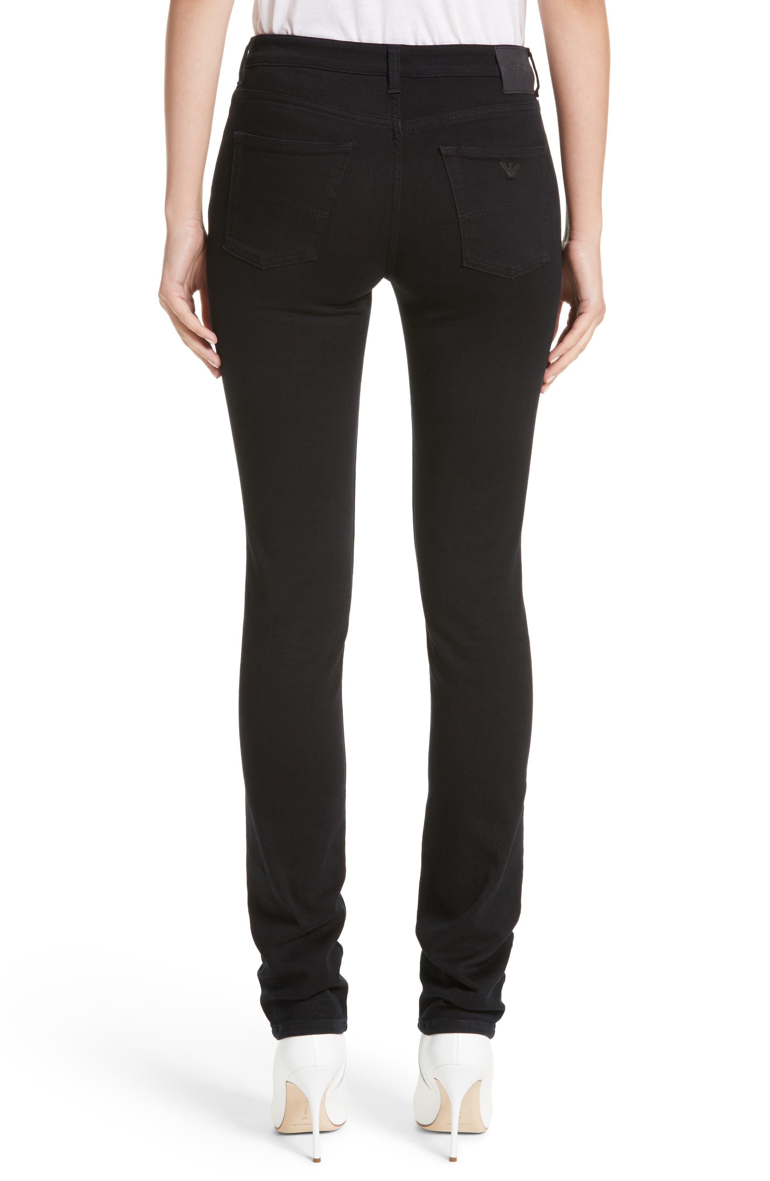 Straight Leg Jeans,                             Alternate thumbnail 2, color,                             Black