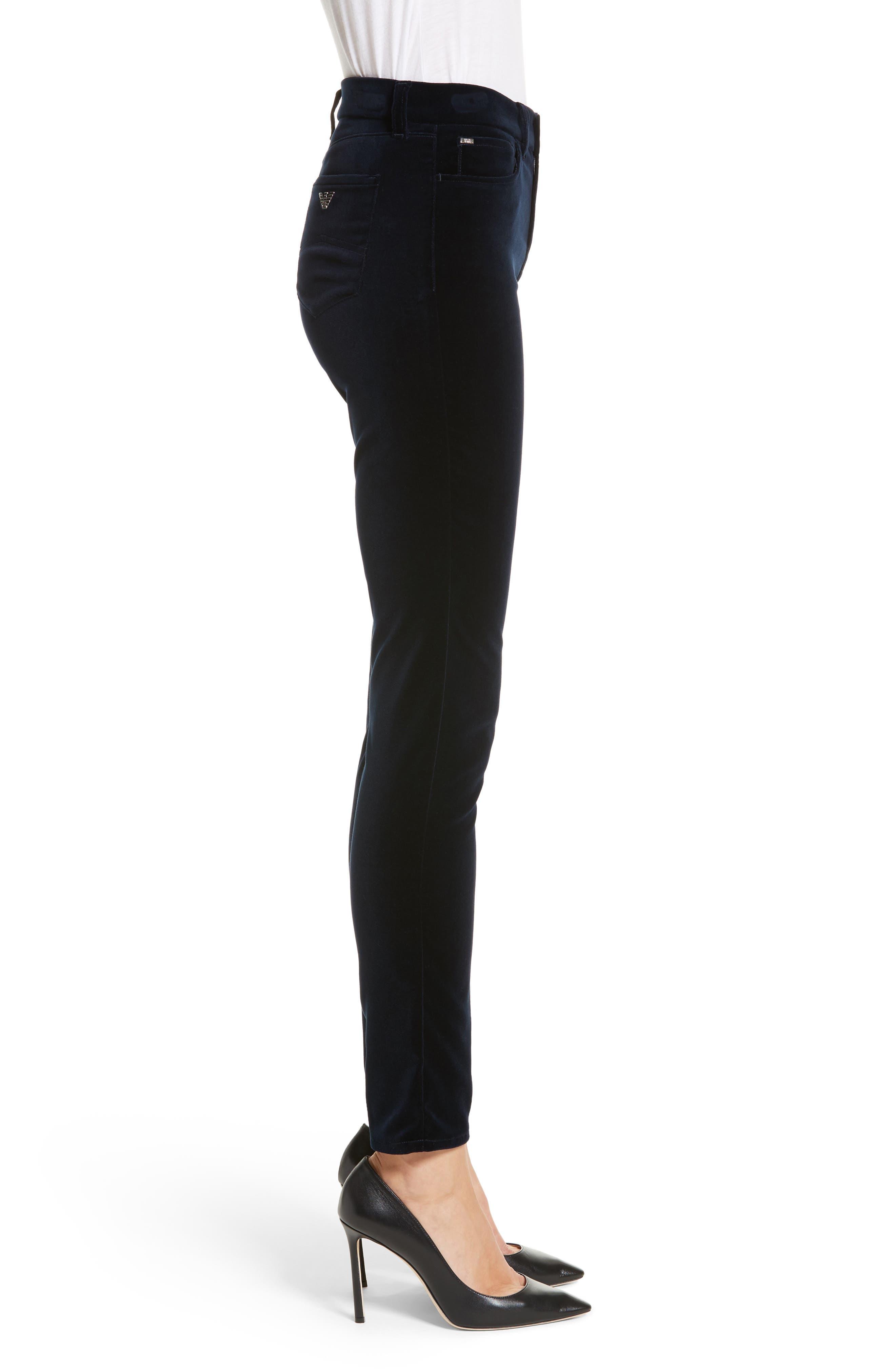 Alternate Image 3  - Armani Collezioni Velvet Straight Leg Pants