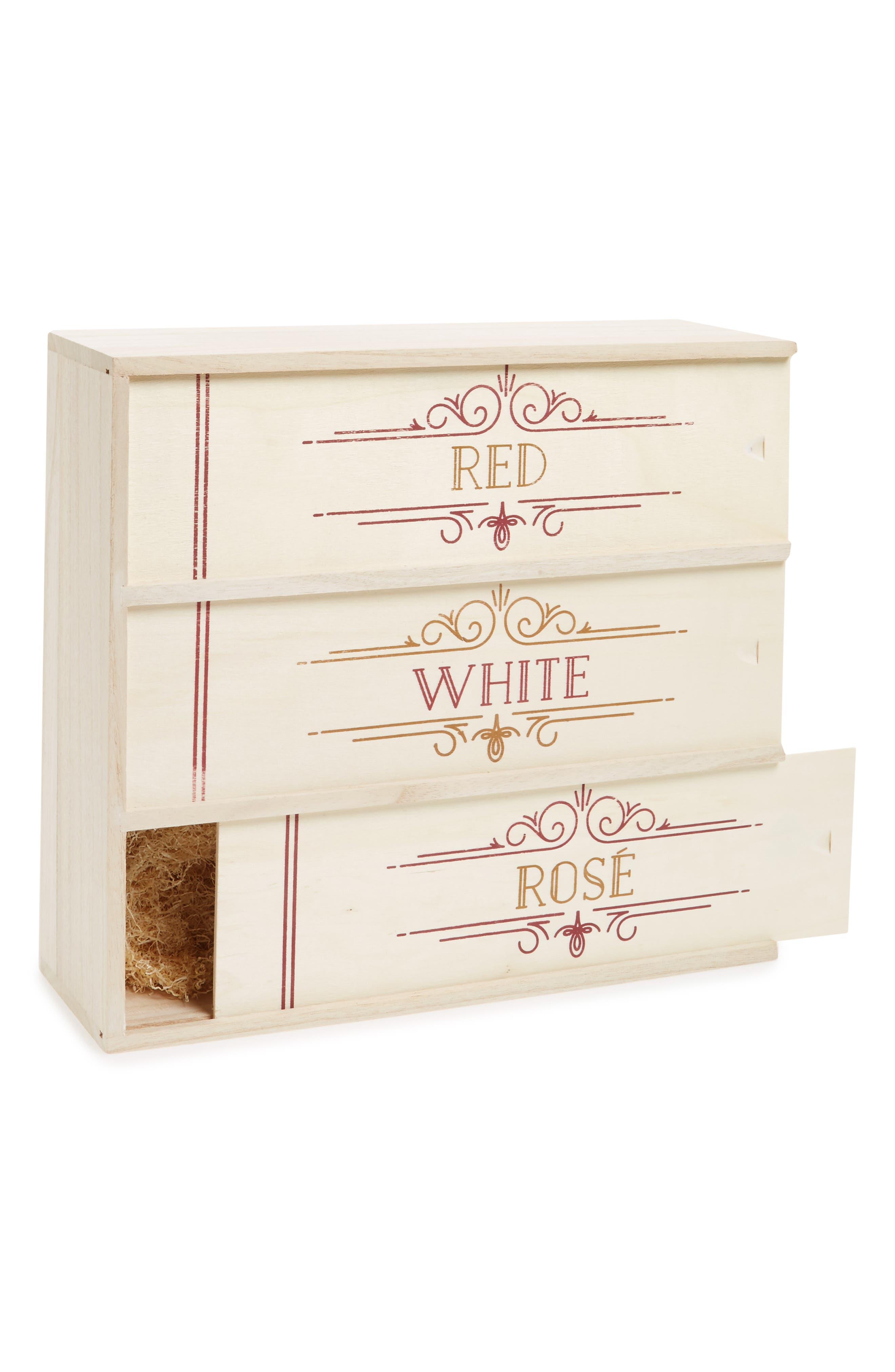 Red, White & Rosé Wine Box,                             Main thumbnail 1, color,                             Beige