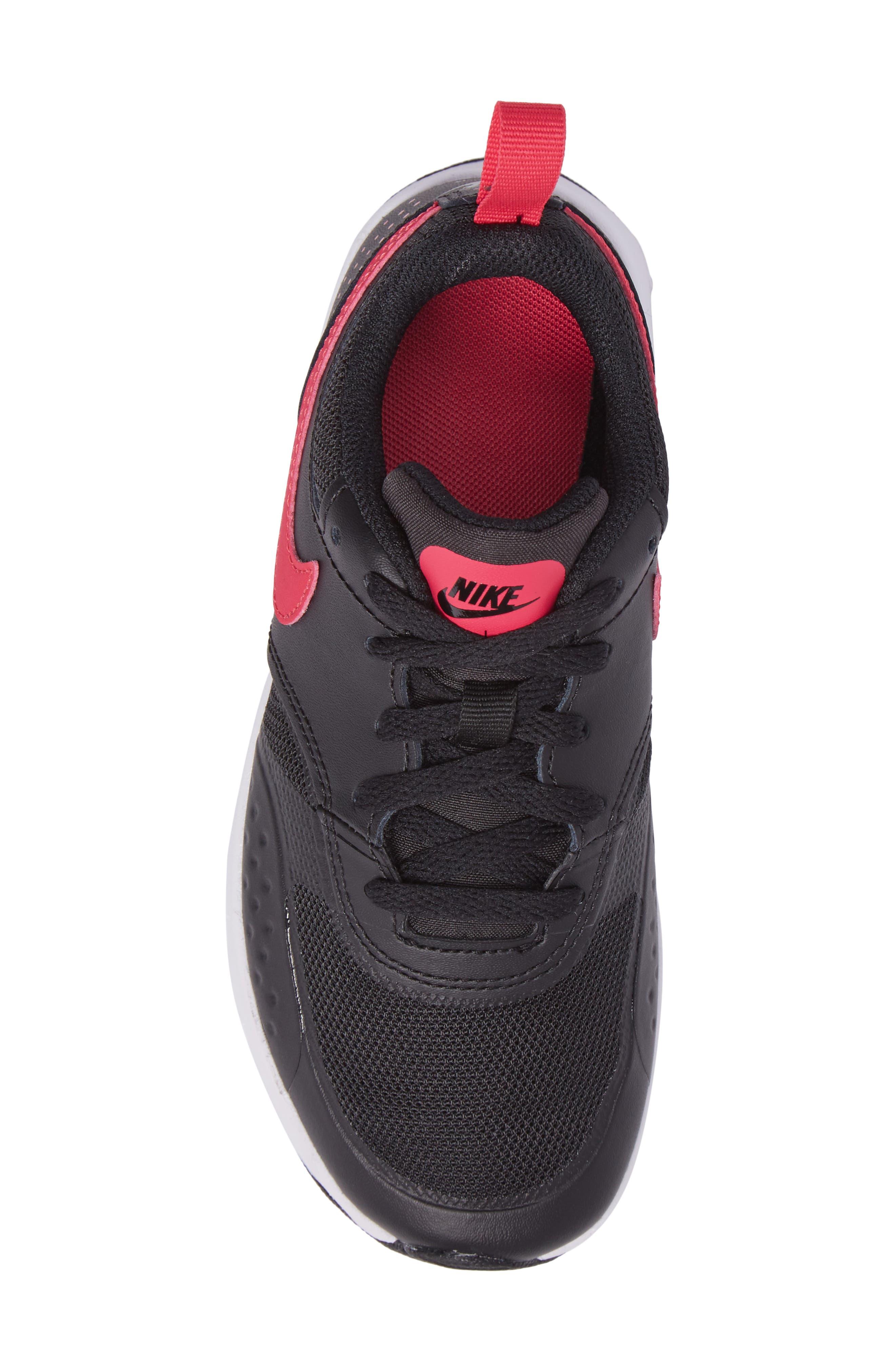 Air Max Vision Sneaker,                             Alternate thumbnail 5, color,                             Black/ Pink