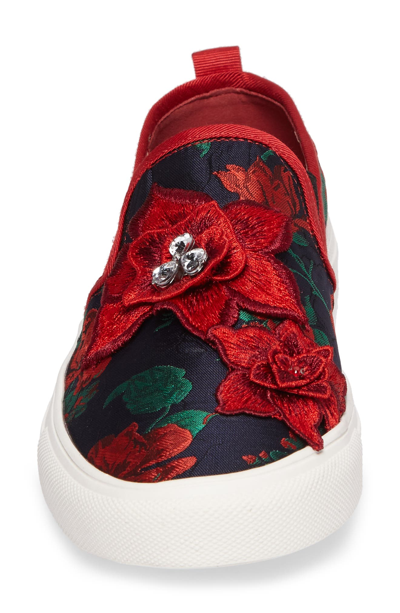 Alternate Image 4  - Topshop Tessa Embroidered Slip-On Sneaker (Women)