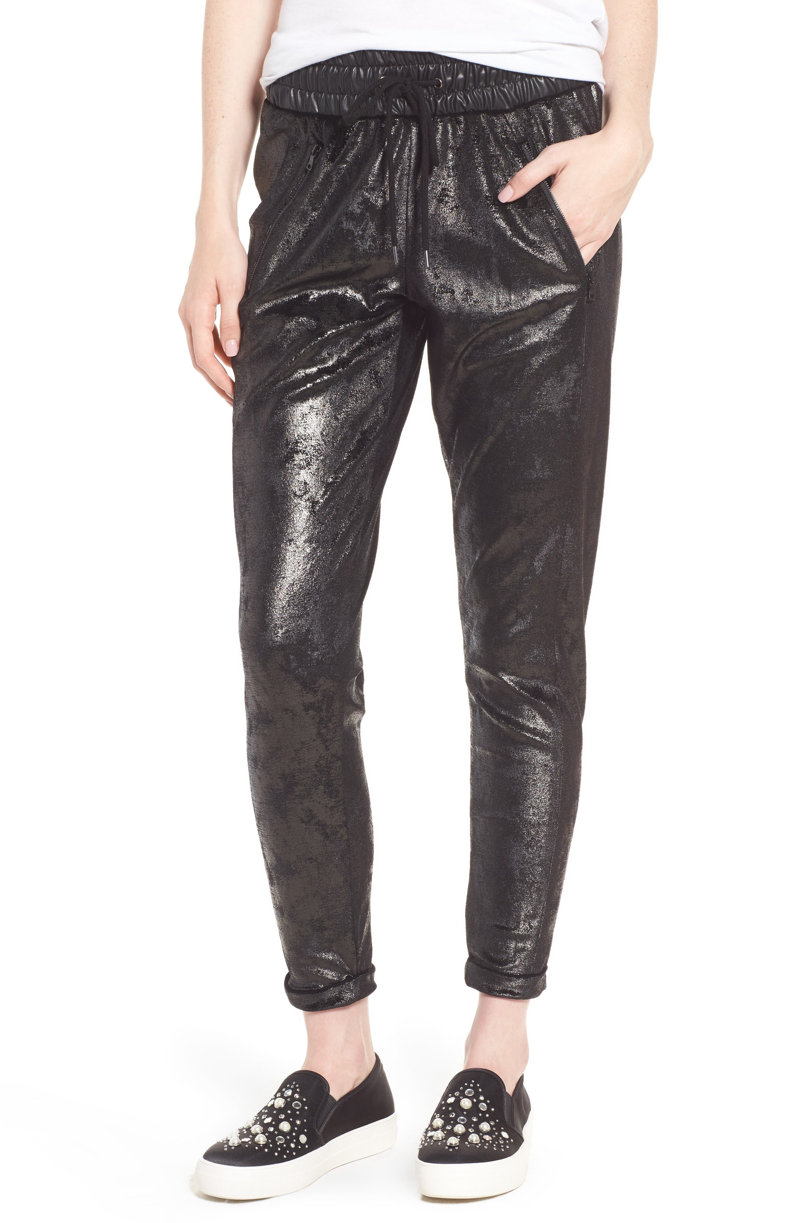 Randall Cuffed Sweatpants,                             Main thumbnail 1, color,                             Black