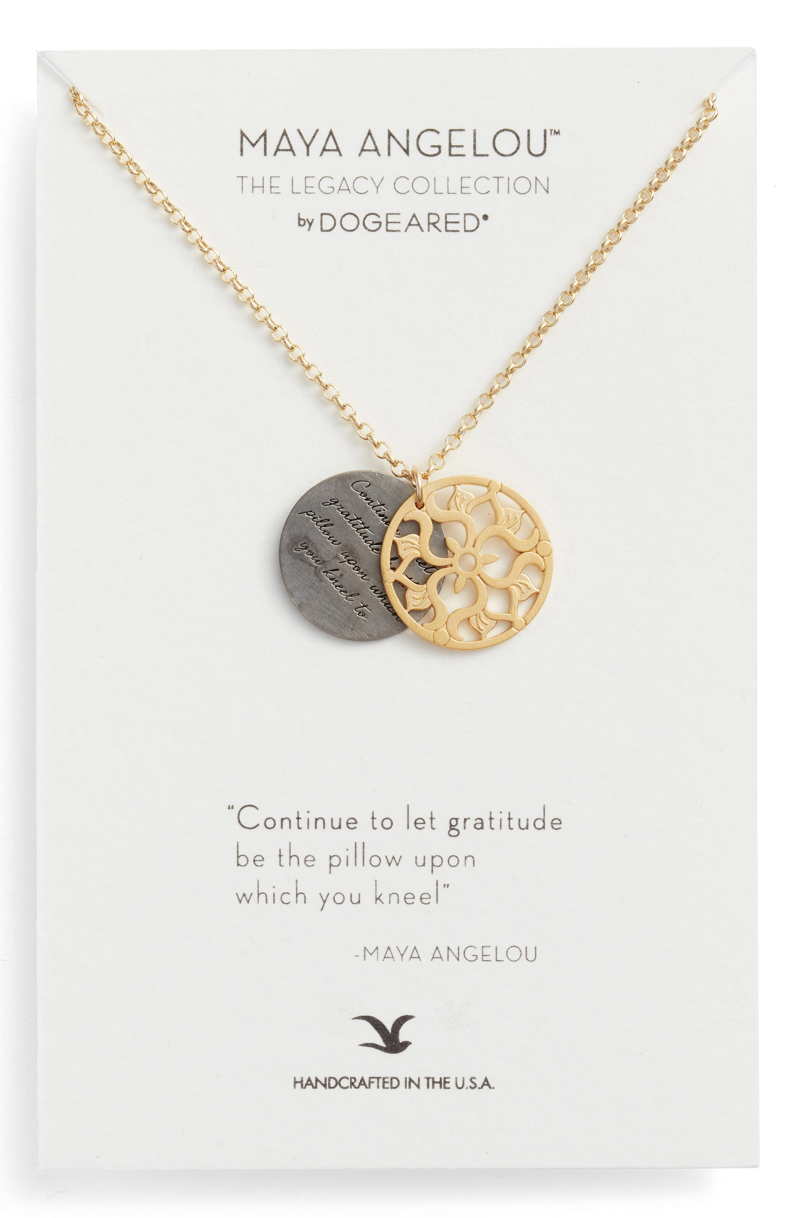 The Legacy Collection - Continue to Let Gratitude... Pendant Necklace,                         Main,                         color, Gold
