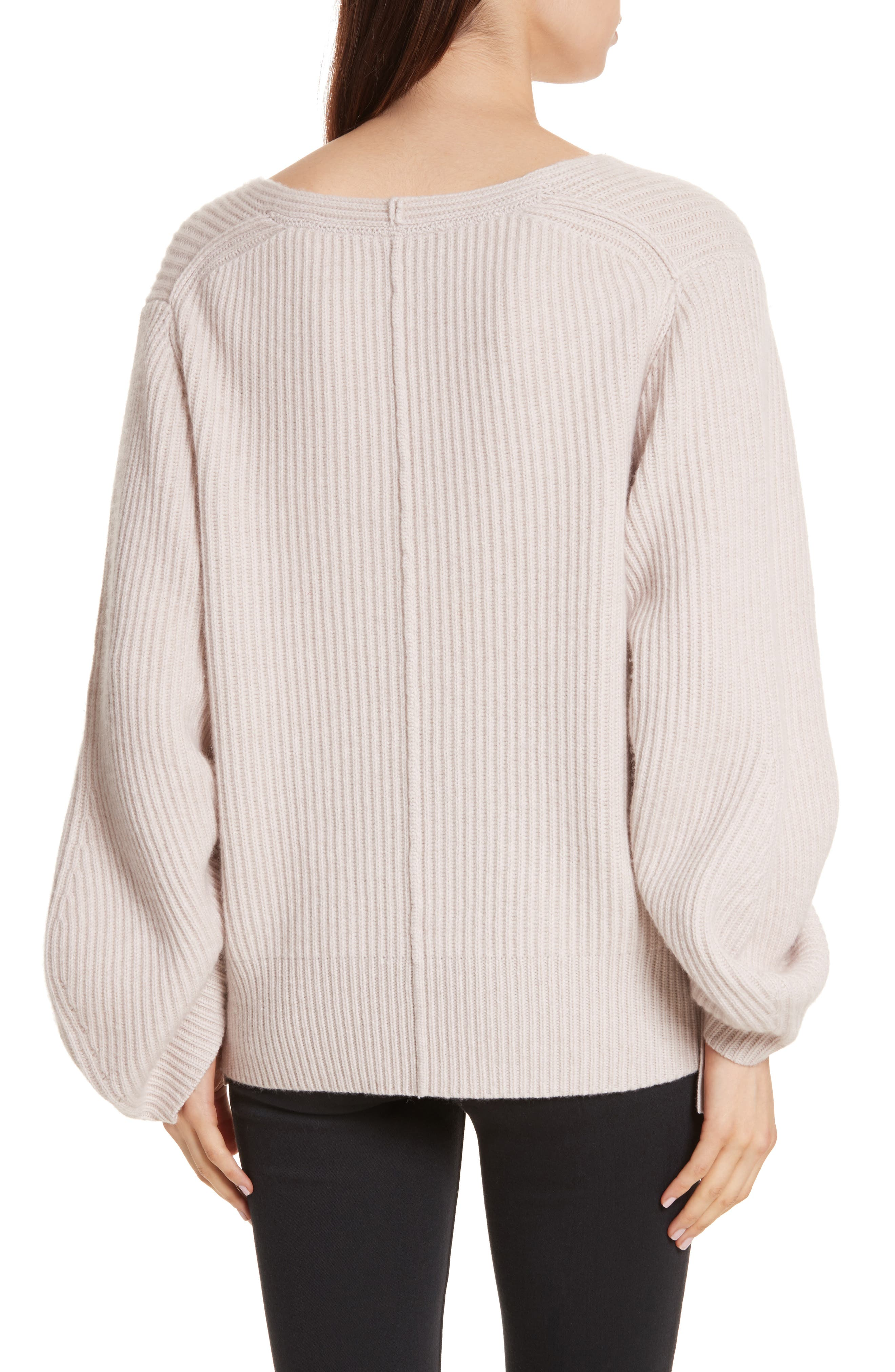 Alternate Image 3  - Brochu Walker Anneka Wool & Cashmere Puff Sleeve Sweater