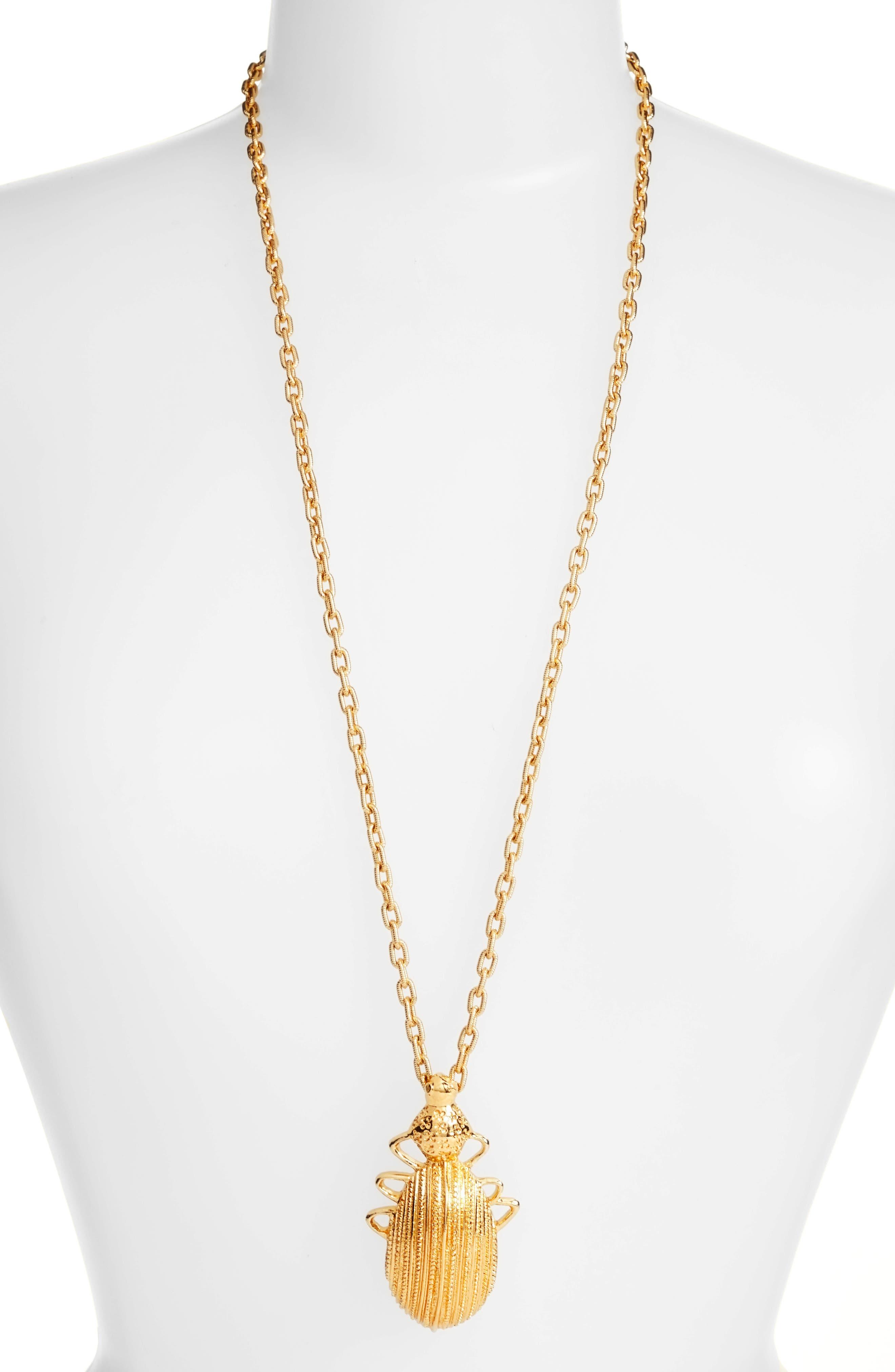 Oscar de la Renta Scarab Pendant Necklace