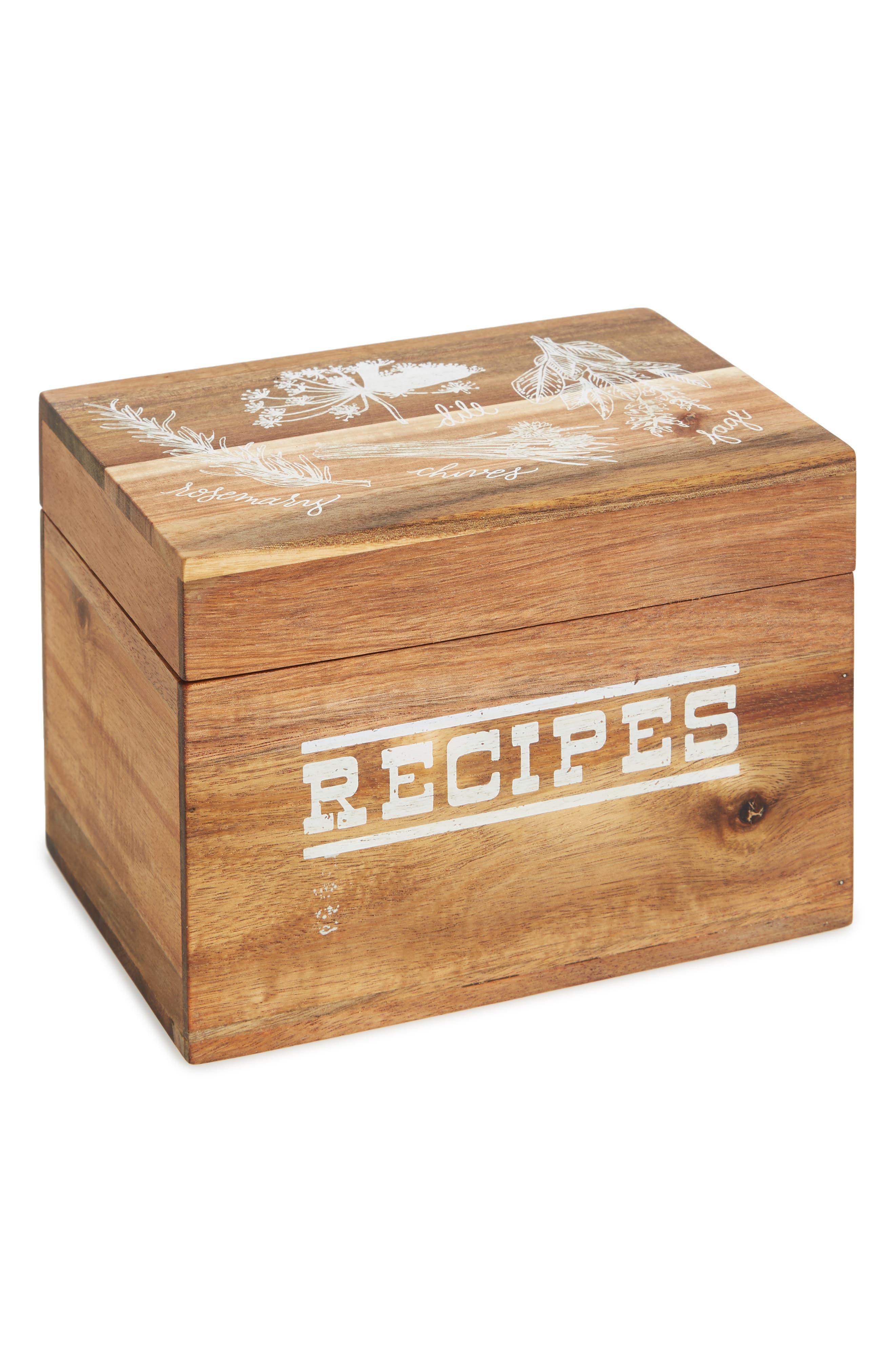Alternate Image 1 Selected - true fabrications Recipe Box