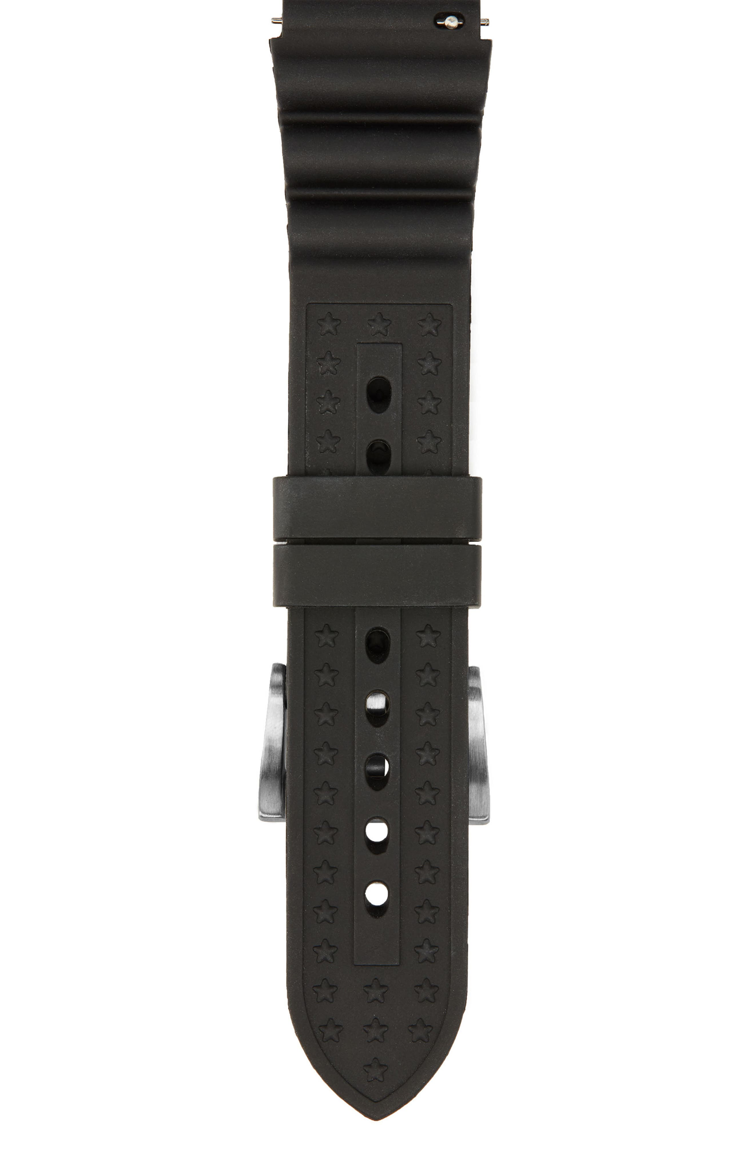 Brand 22mm Rubber Watch Strap,                             Alternate thumbnail 2, color,                             Black Rubber