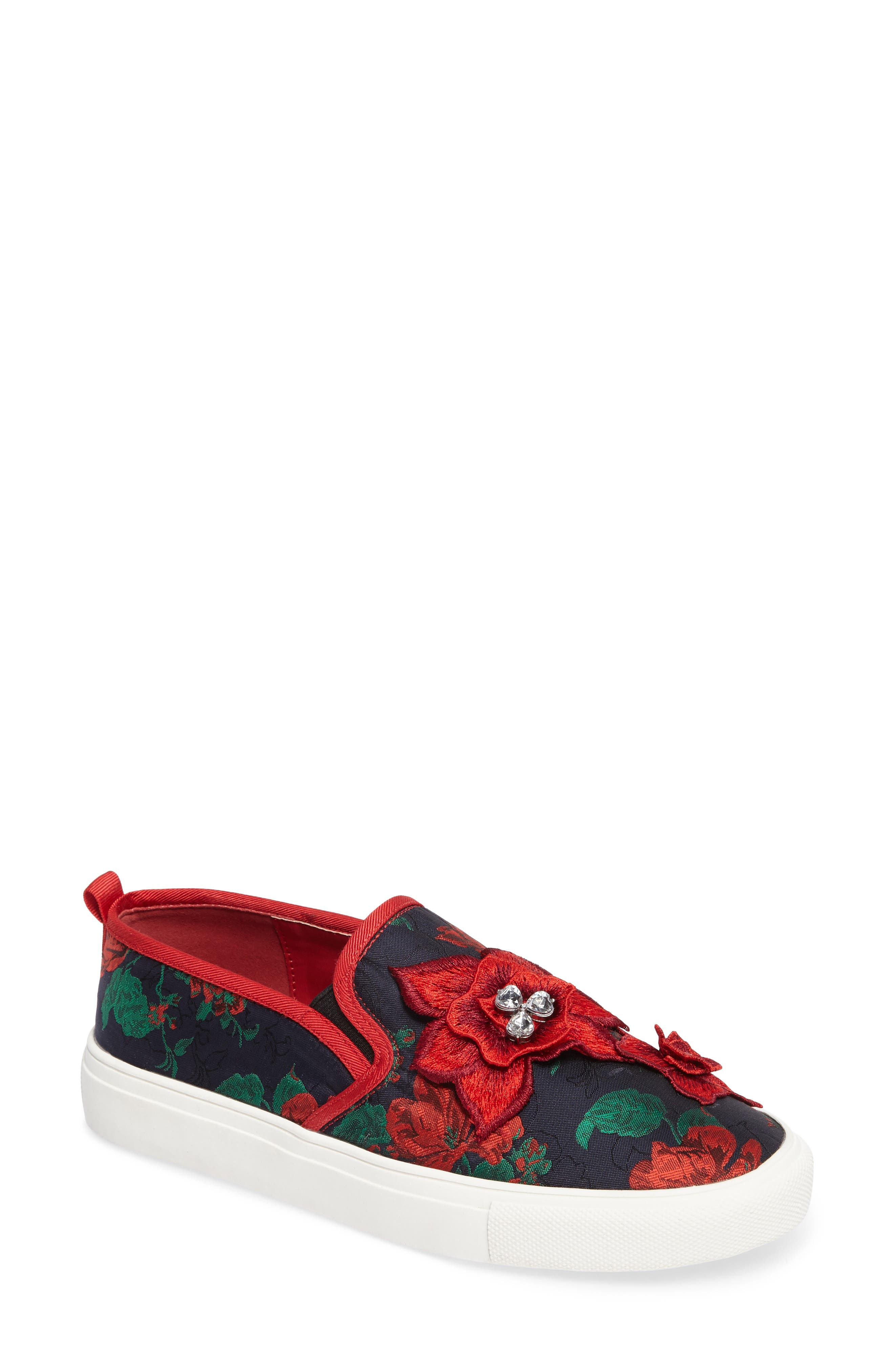 Main Image - Topshop Tessa Embroidered Slip-On Sneaker (Women)