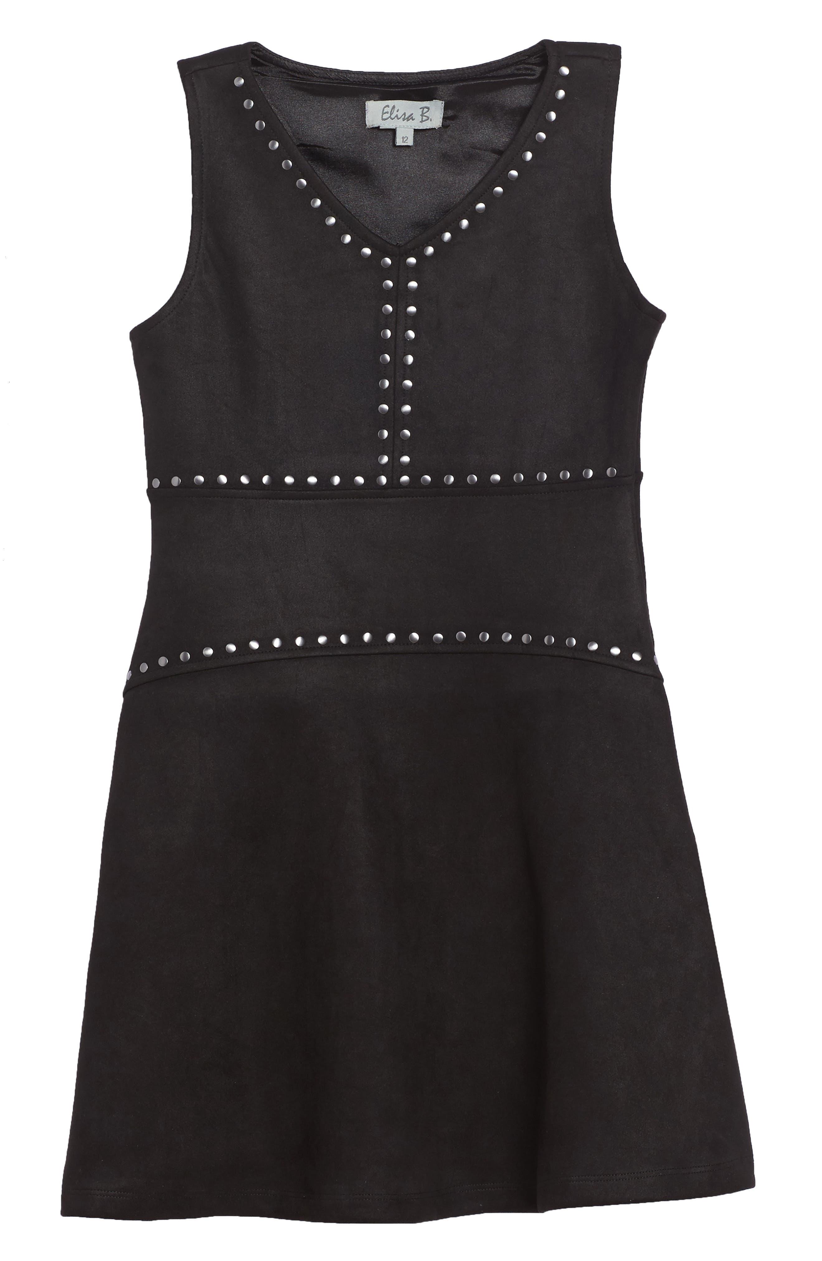 Main Image - Elisa B Studded Sleeveless Dress (Big Girls)