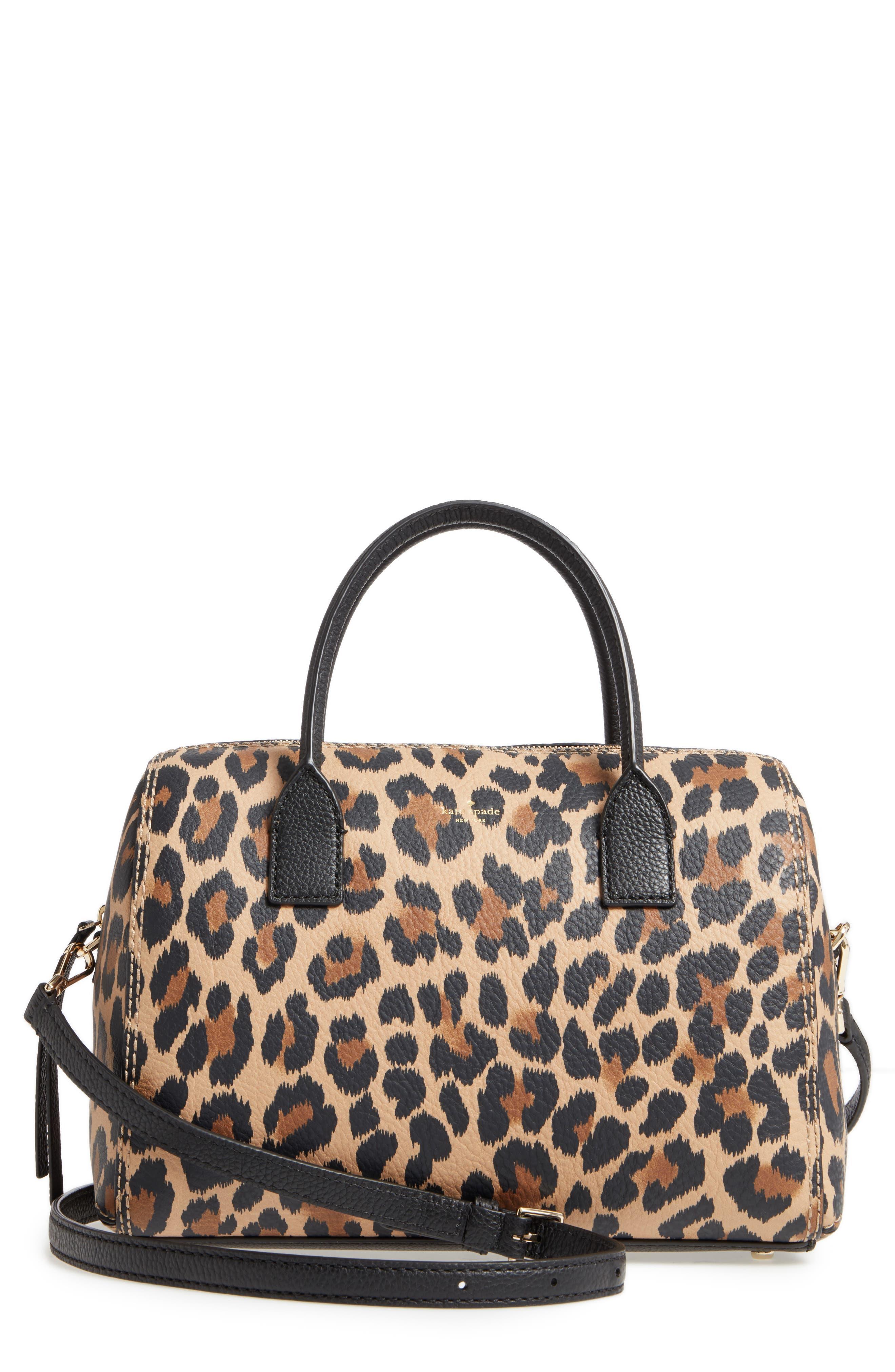 dunne lane mega lake printed leather satchel,                             Main thumbnail 1, color,                             Leopard