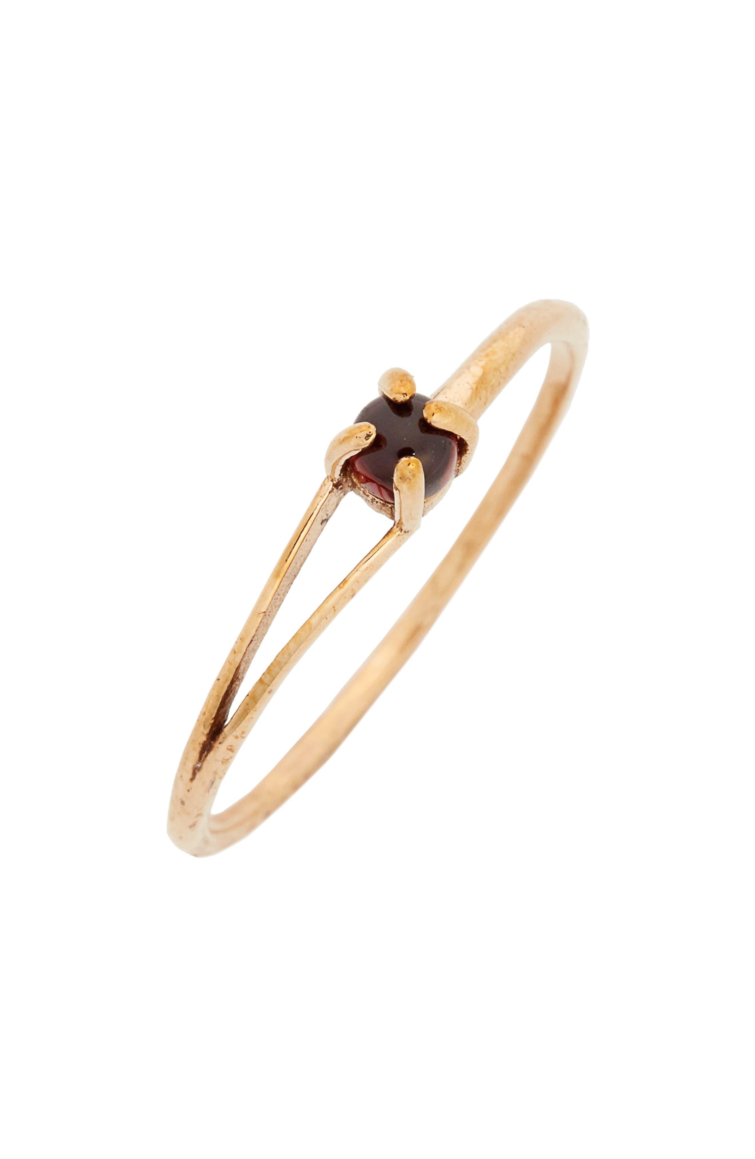 Madewell Delicate Garnet Cutout Ring