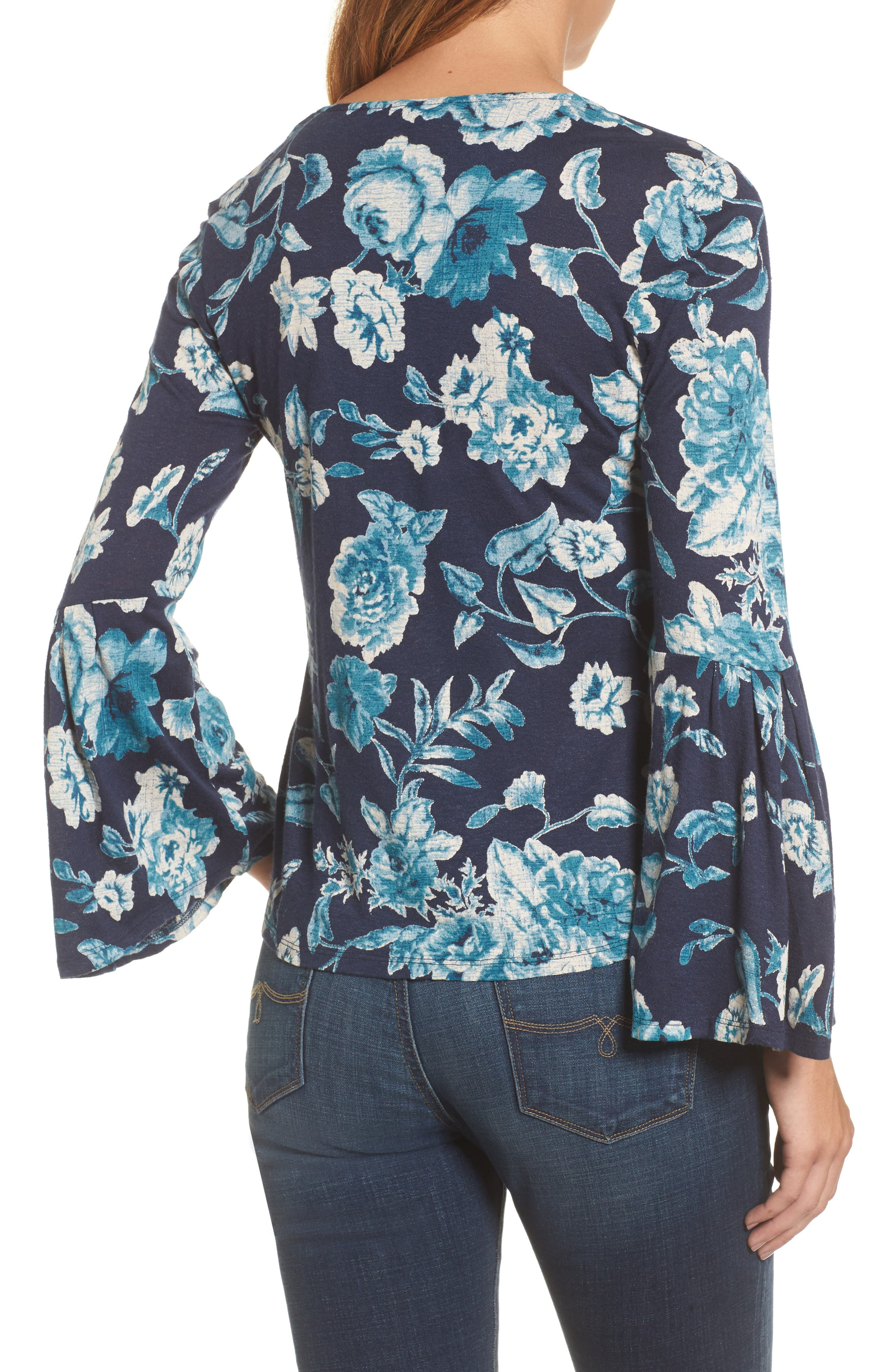 Alternate Image 2  - Lucky Brand Encinitas Bell Sleeve Top