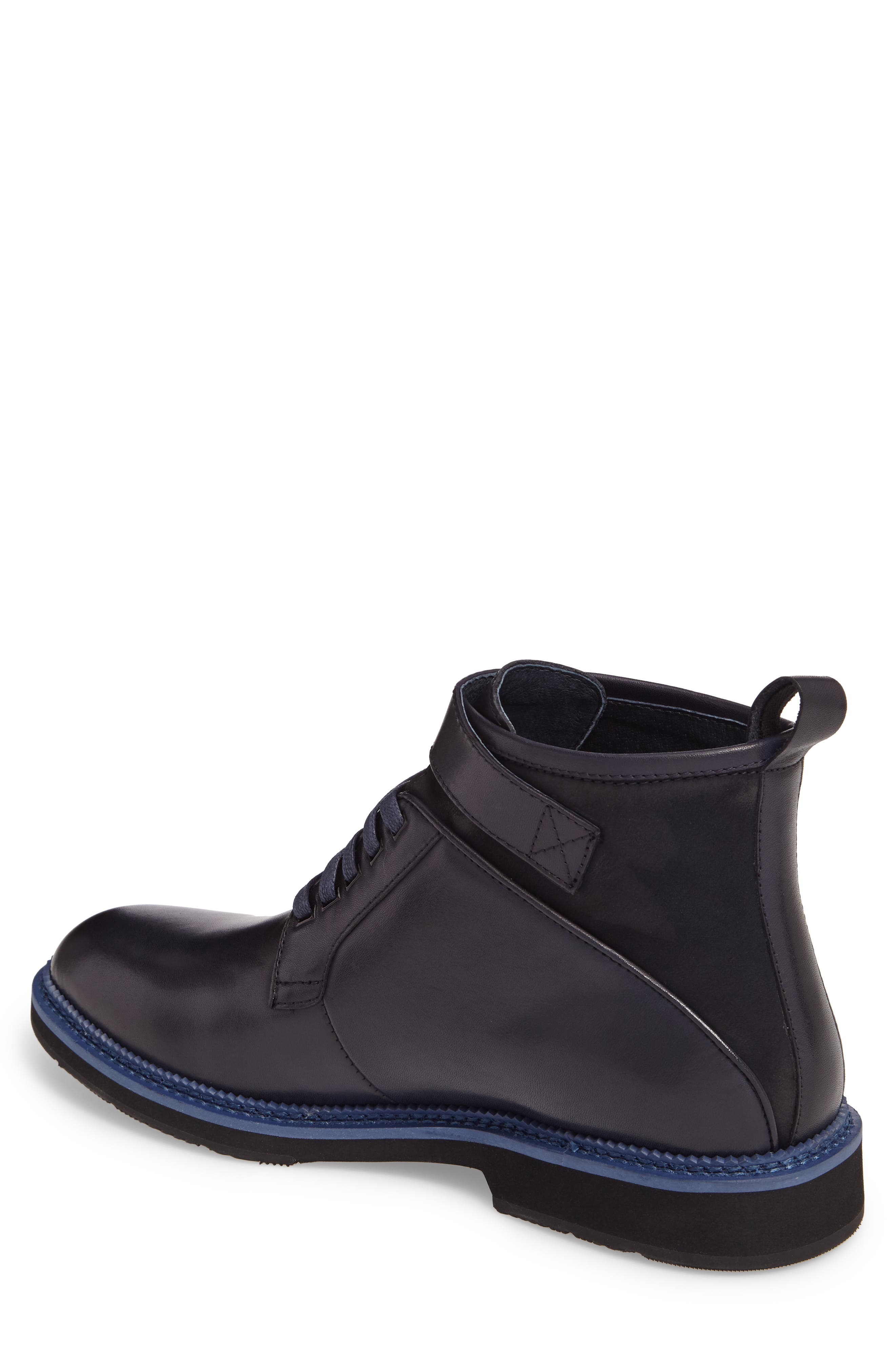 Ginko Plain Toe Boot,                             Alternate thumbnail 2, color,                             Navy Leather