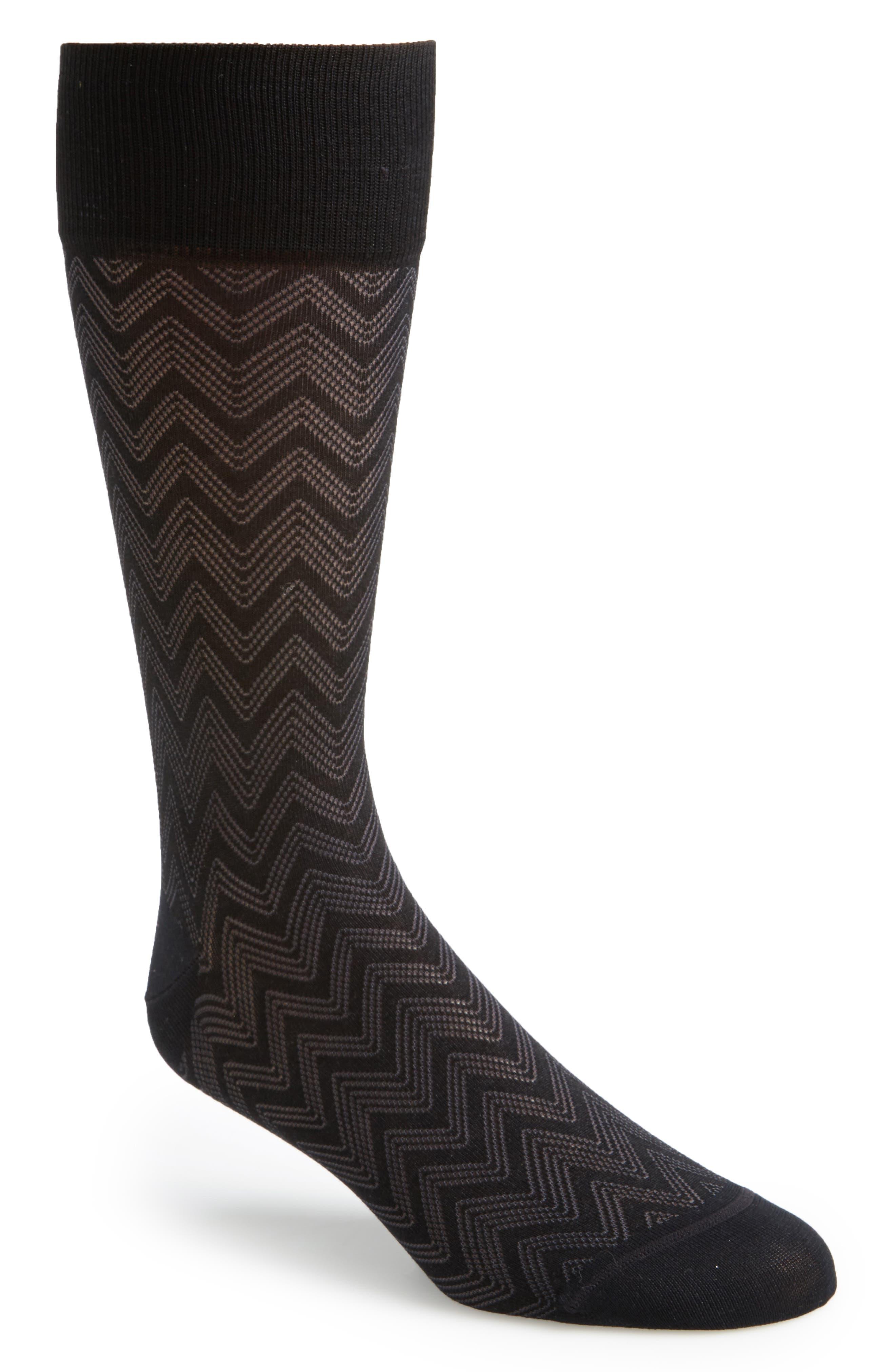 Alternate Image 1 Selected - John W. Nordstrom® Chevron Socks