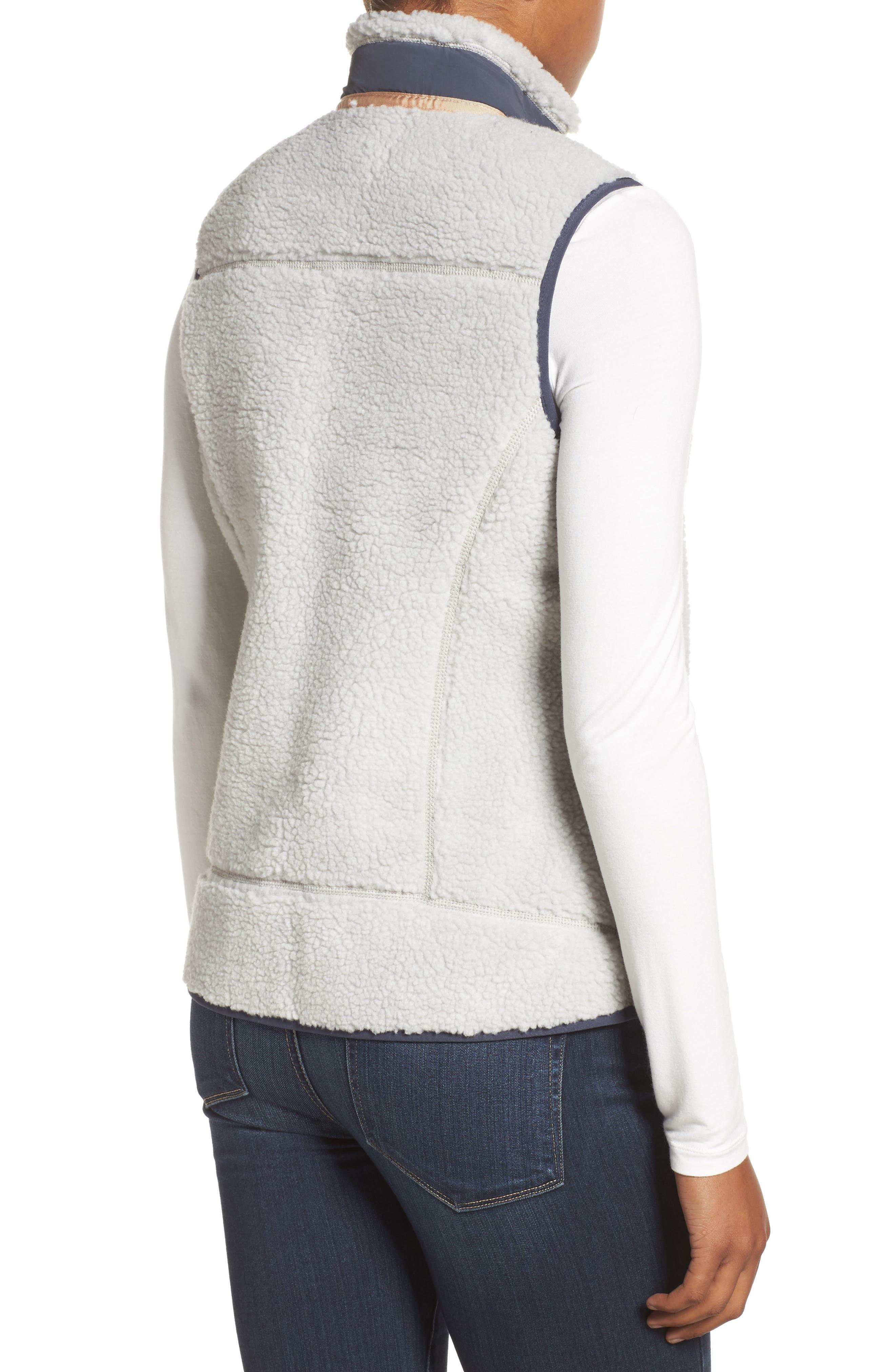 Classic Retro-X<sup>®</sup> Fleece Vest,                             Alternate thumbnail 2, color,                             Tailored Grey W/ Smolder Blue