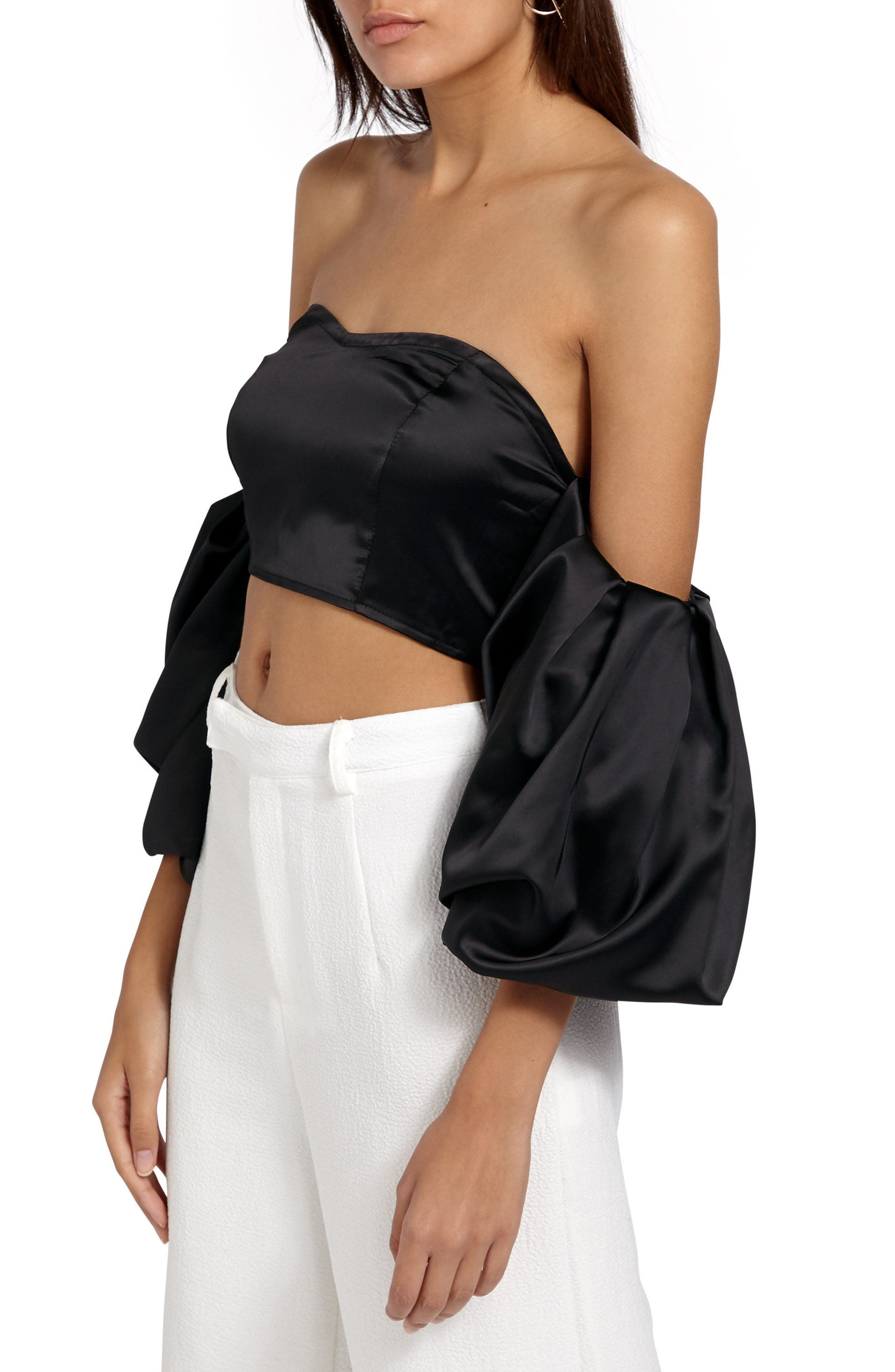 Alternate Image 4  - Missguided Off the Shoulder Crop Top